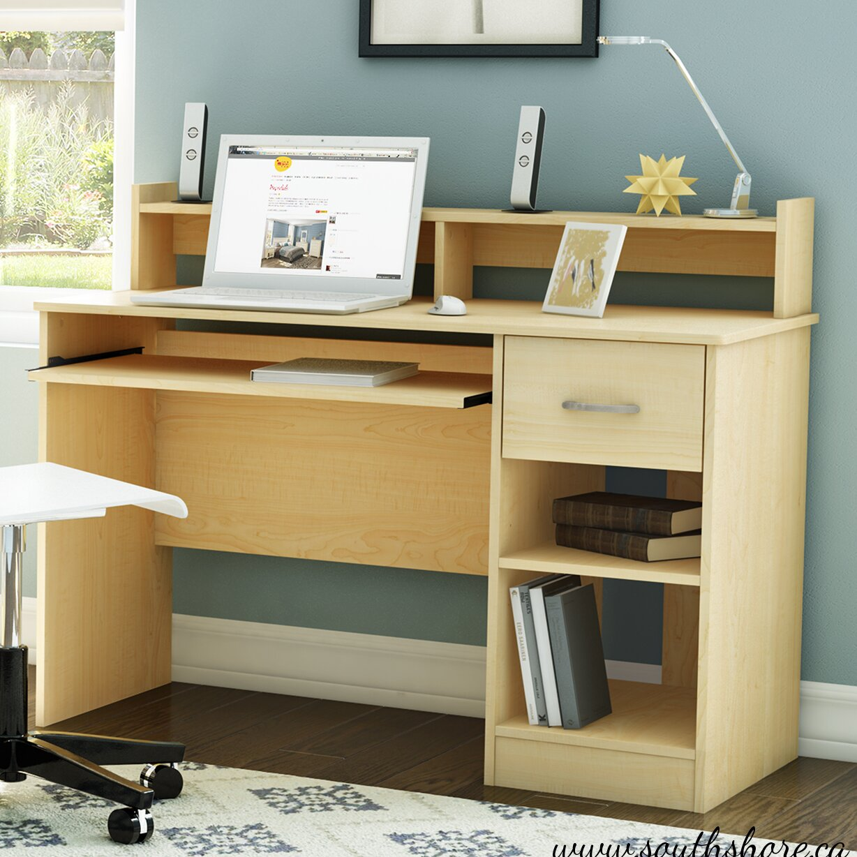South Shore Axess 1 Drawer Computer Desk Reviews Wayfair
