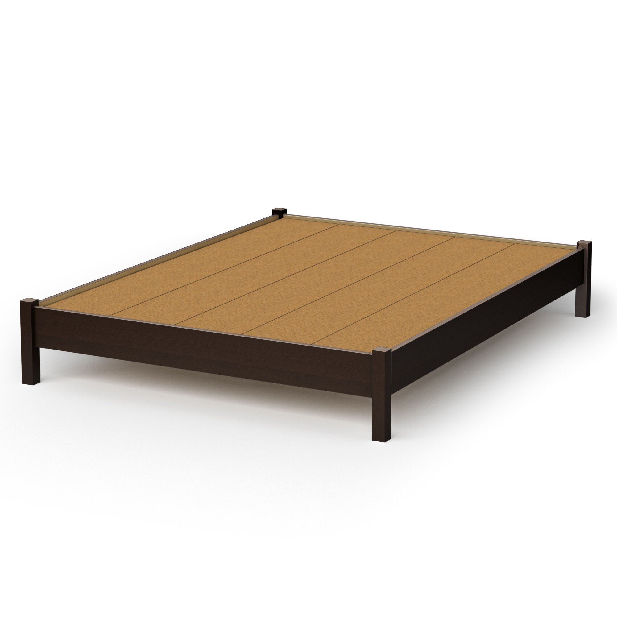 South shore step one platform bed reviews wayfair for Pedestal bed