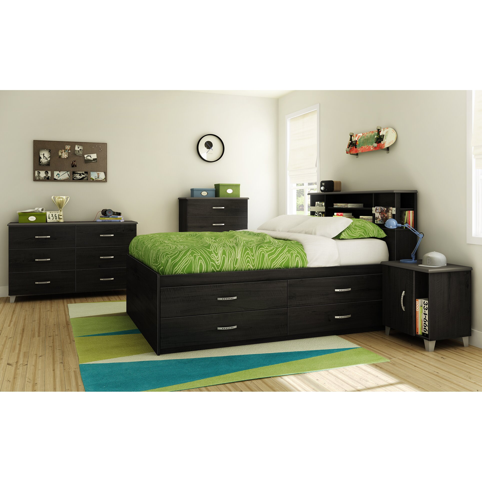 South shore lazer full platform customizable bedroom - South shore furniture bedroom sets ...