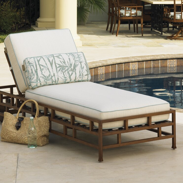 tommy bahama outdoor ocean club resort chaise lounge wayfair. Black Bedroom Furniture Sets. Home Design Ideas