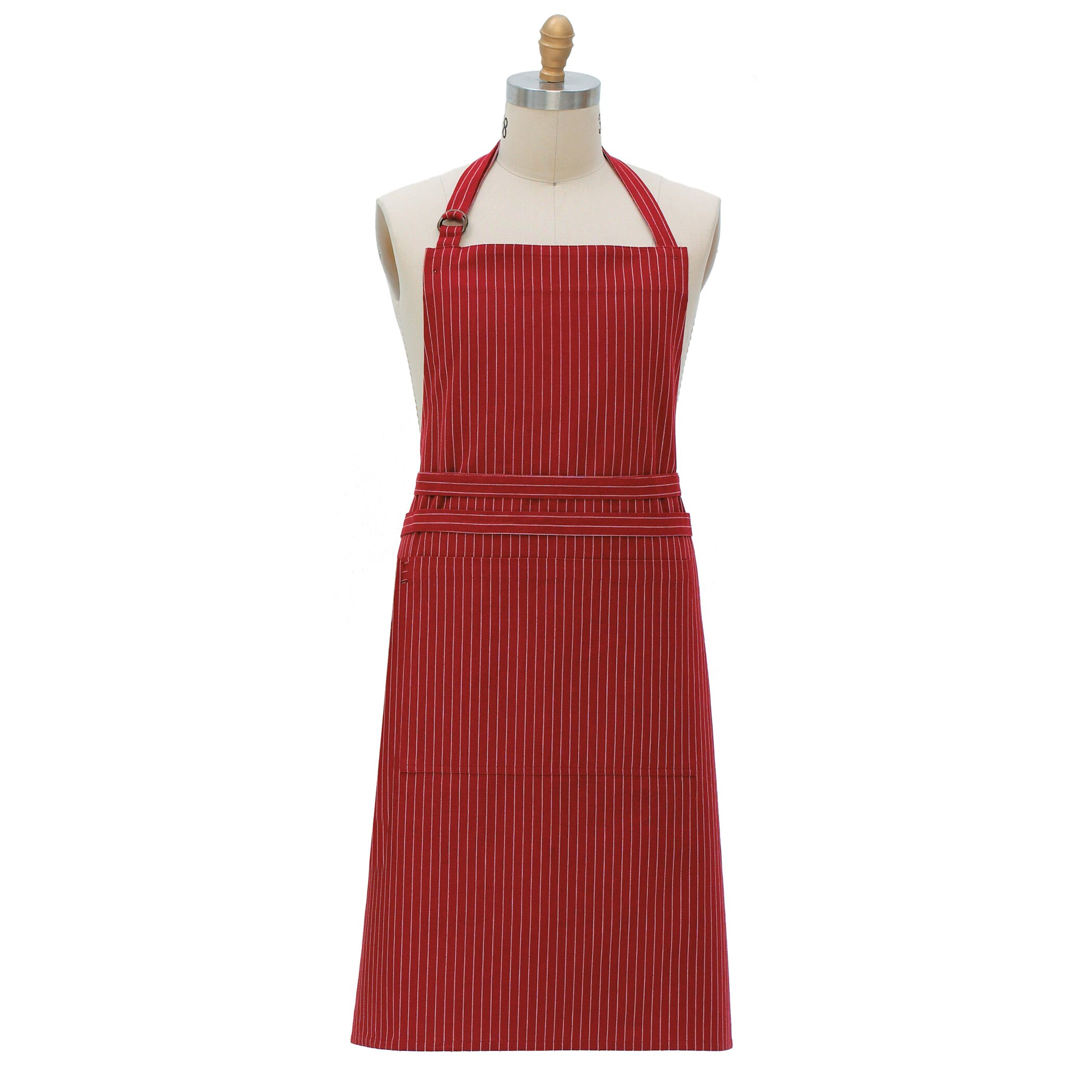 Kay dee designs pin striped apron reviews wayfair for Apron designs and kitchen apron styles