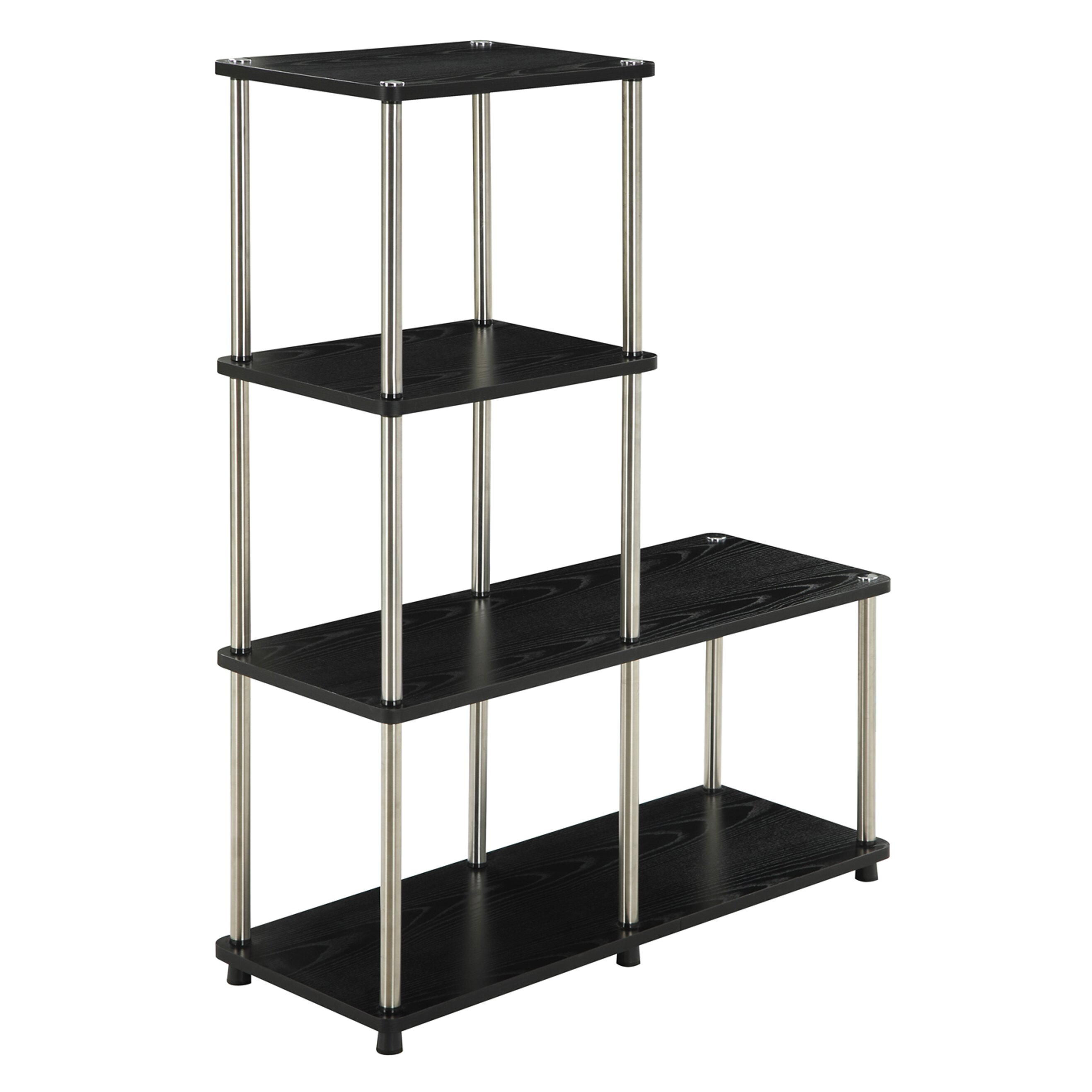 Go Multi L Shaped 41 Accent Shelves Bookcase & Revi . Full resolution‎  portraiture, nominally Width 2635 Height 2635 pixels, portraiture with #716C5A.