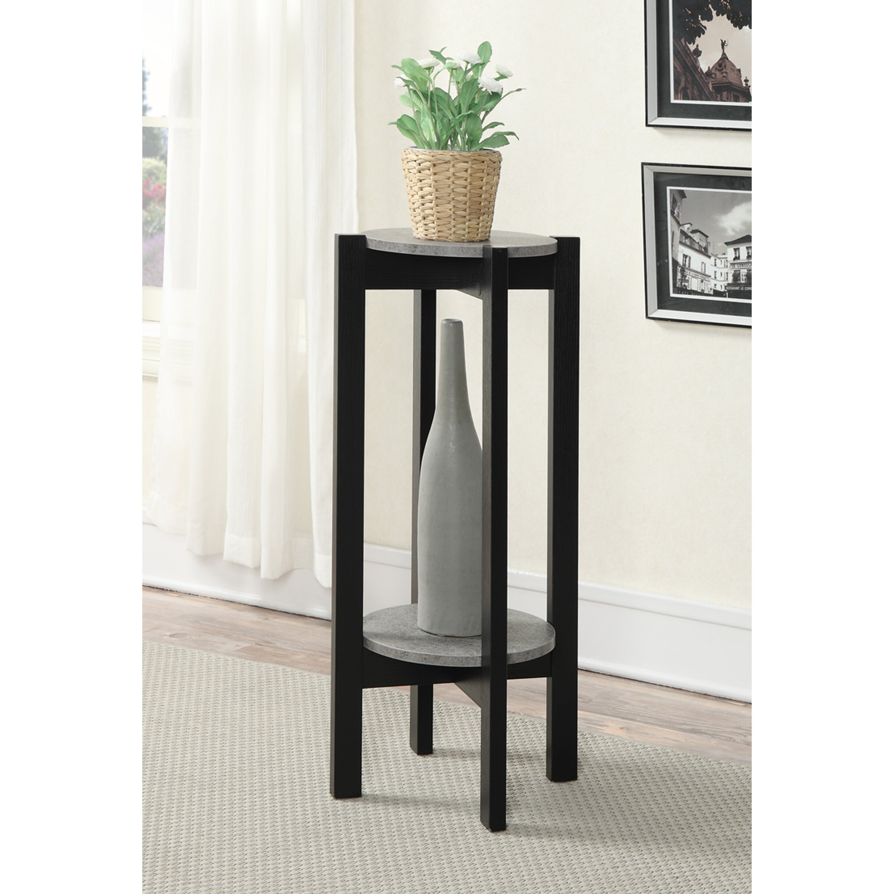 convenience concepts newport multi tiered plant stand wayfair. Black Bedroom Furniture Sets. Home Design Ideas