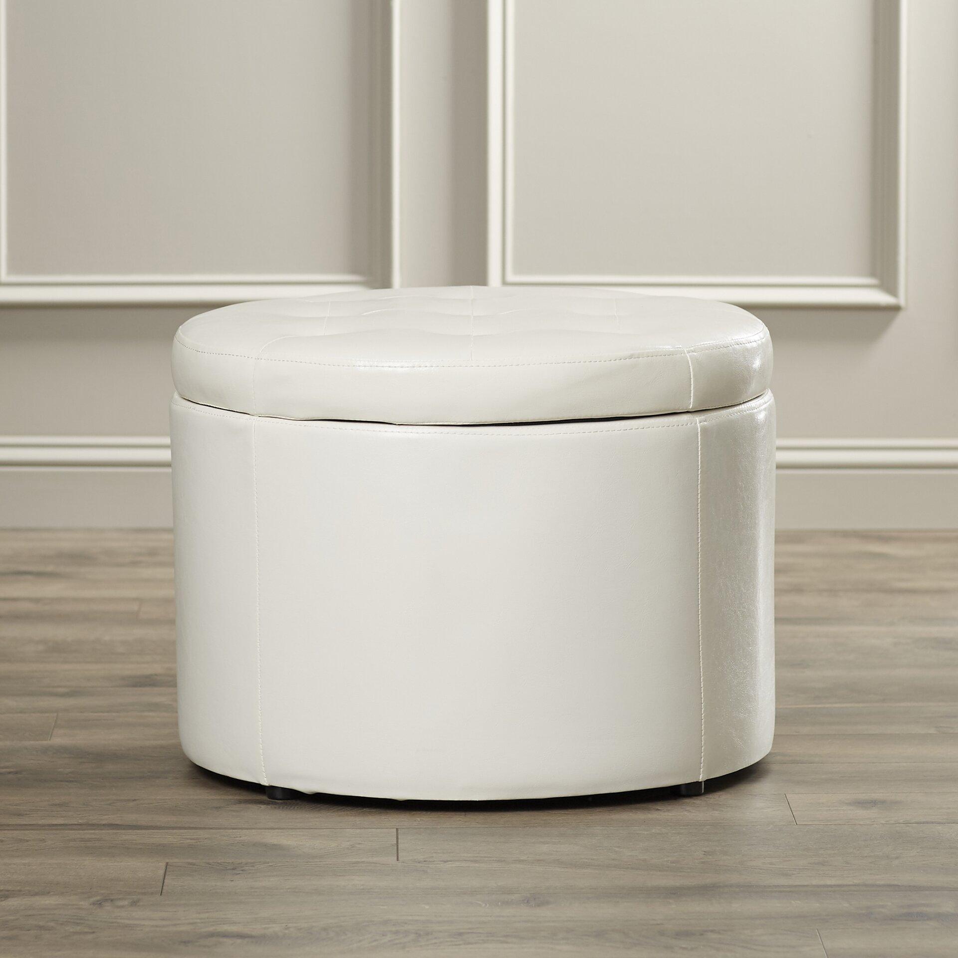 Convenience concepts designs 4 comfort round shoe storage Round storage ottoman