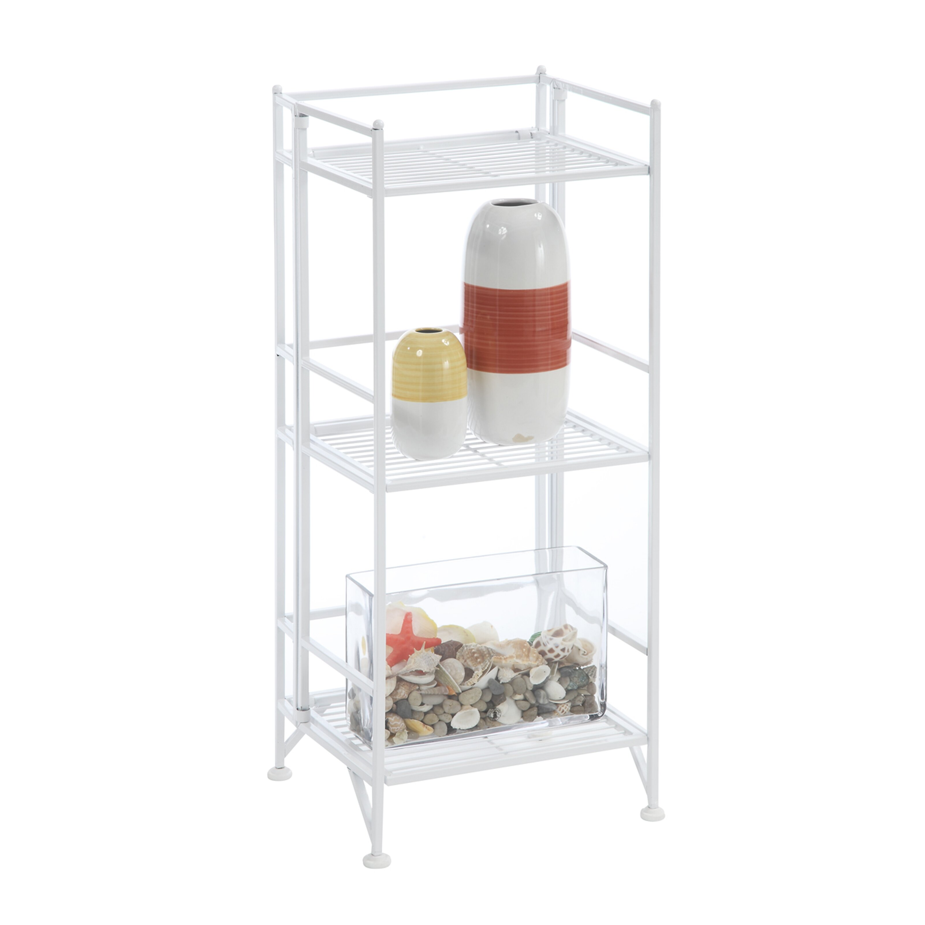 convenience concepts designs 2 go 3 tier folding metal. Black Bedroom Furniture Sets. Home Design Ideas