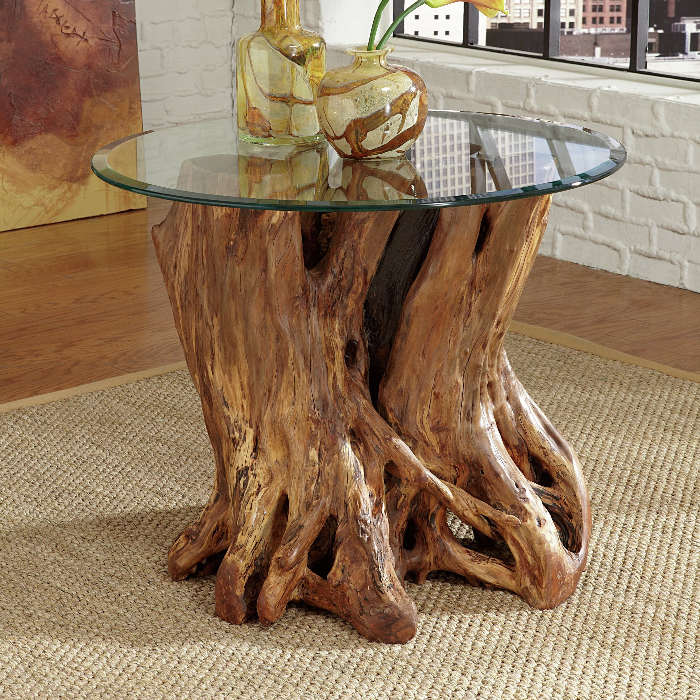 Root Coffee Table For Sale: Hammary Hidden Treasures Root Ball End Table & Reviews