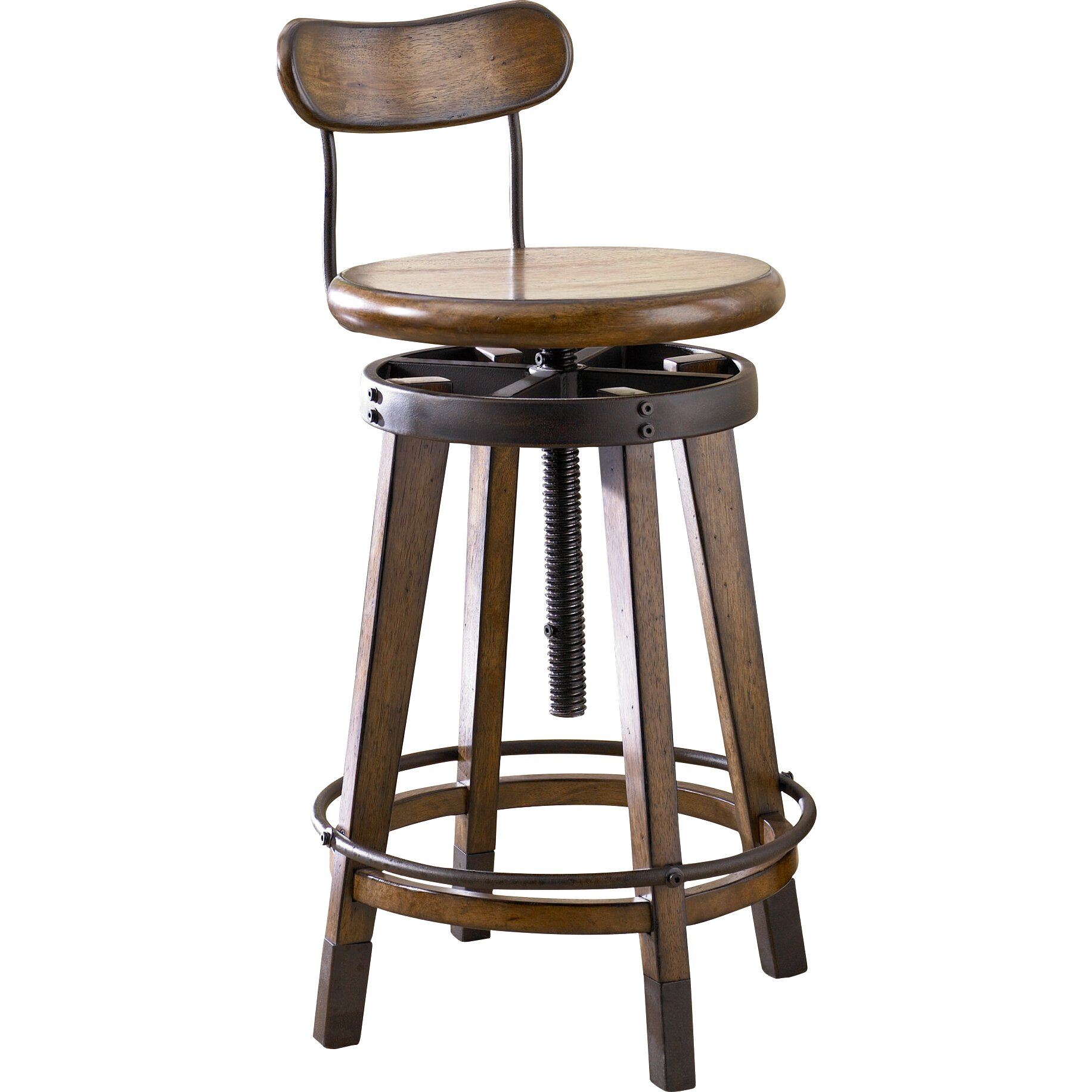 Hammary Studio Home Adjustable Height Swivel Bar Stool  : Hammary Studio Home Adjustable Height Swivel Bar Stool 166 948 from www.wayfair.com size 1832 x 1832 jpeg 326kB