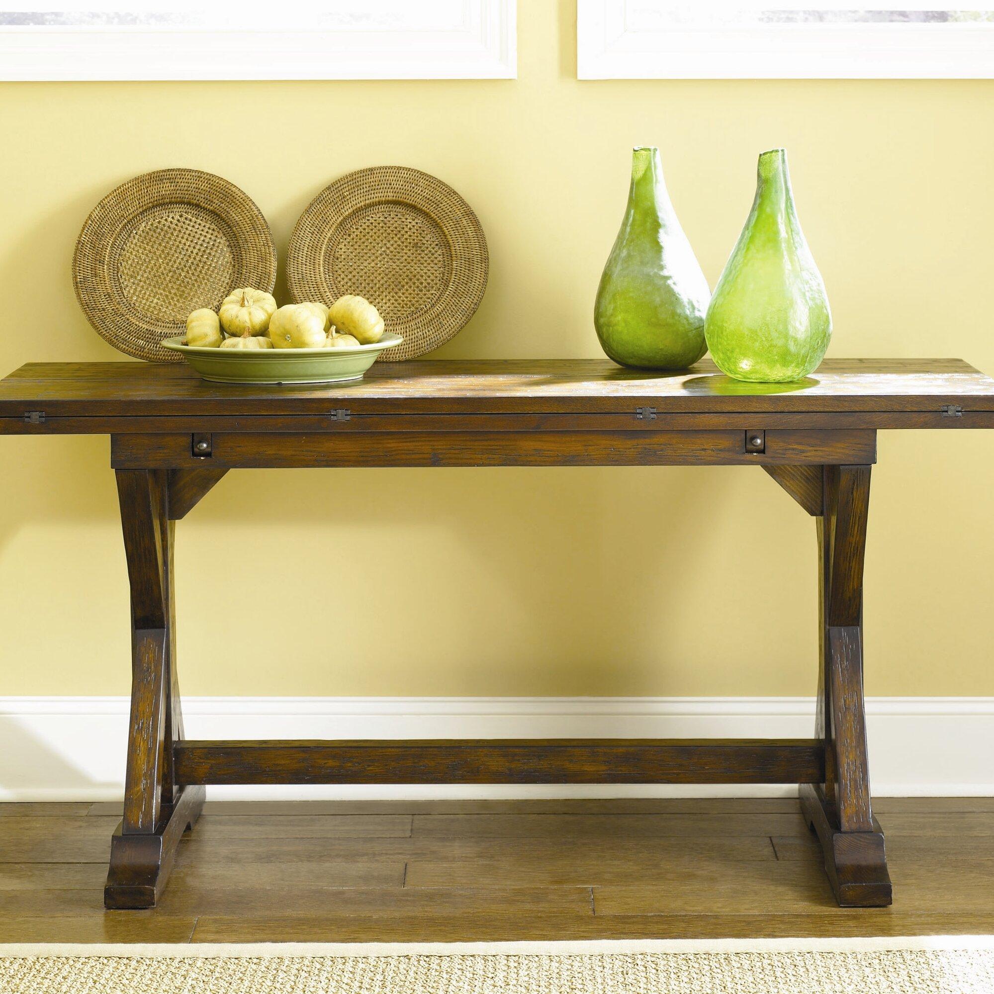 Hammary hidden treasures console table reviews wayfair for Sofa table restaurant
