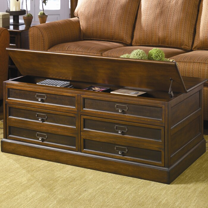 Hammary Mercantile Trunk Coffee Table With Lift Top Reviews Wayfair