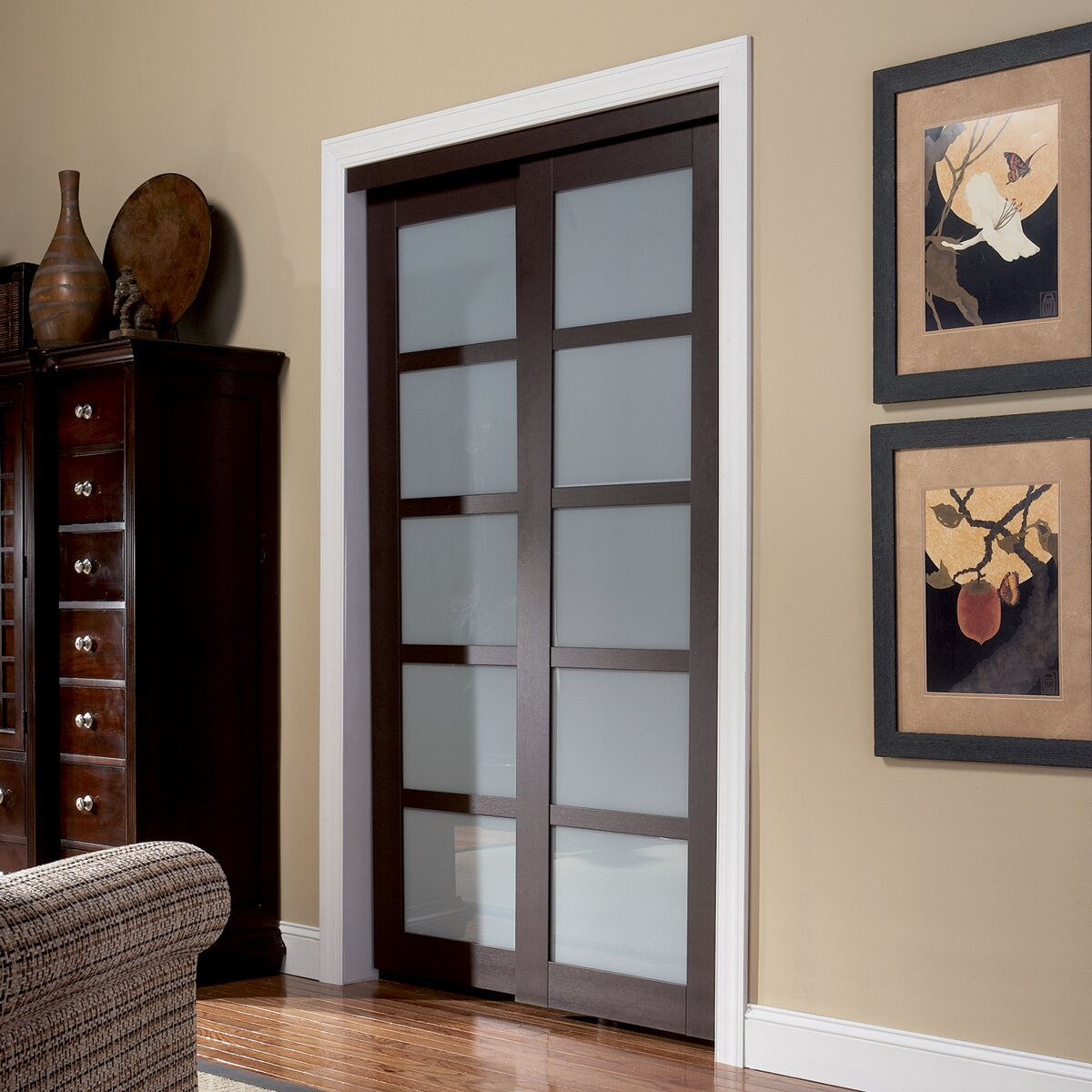 Erias Home Designs Baldarassario 2 Panel Painted Sliding Interior Door Reviews Wayfair Supply