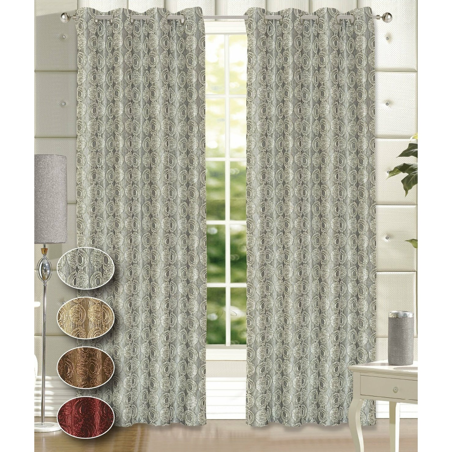 Dainty Home Twilight Polyester Shower Curtain