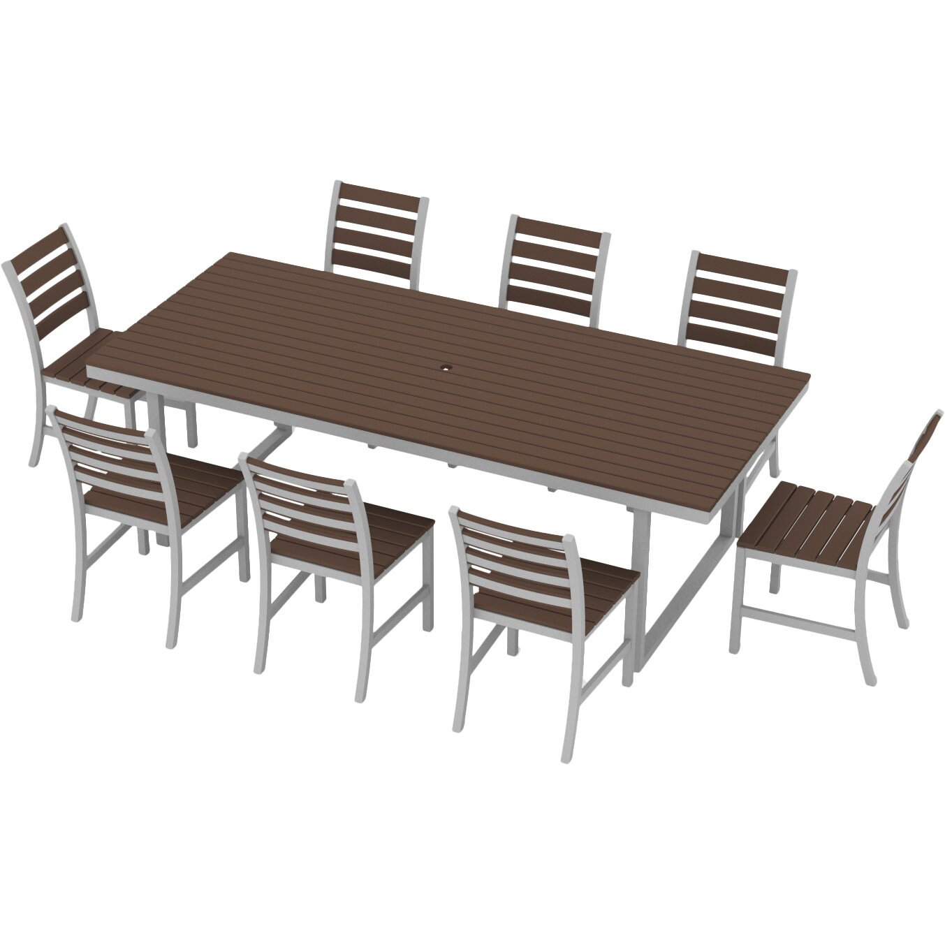elan furniture kinzie 9 piece dining set reviews wayfair On breakfast sets furniture