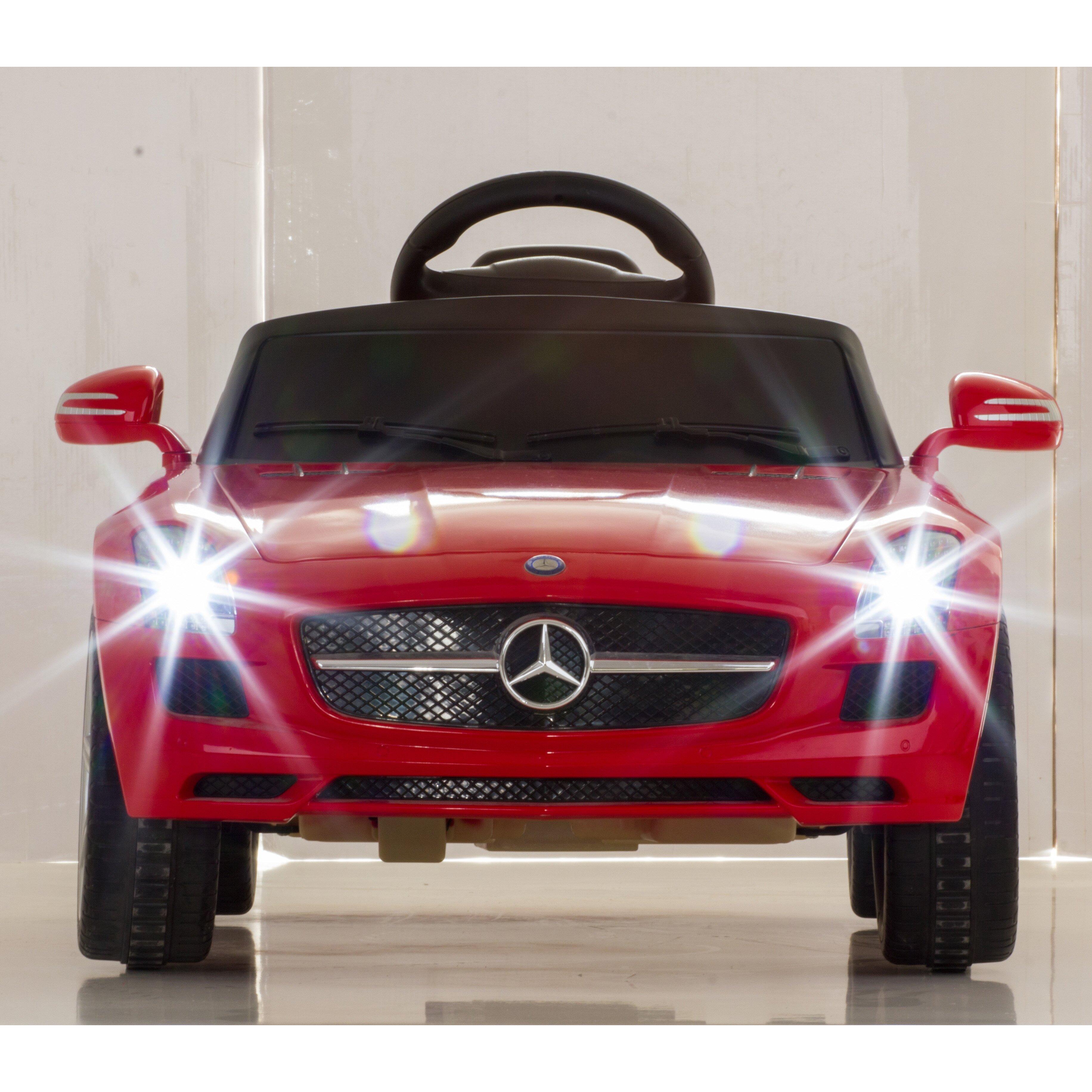 Vroom Rider Mercedes Benz Sls Amg Rastar 6v Battery