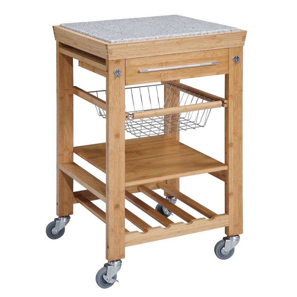 Linon Kitchen Cart With Granite Top & Reviews
