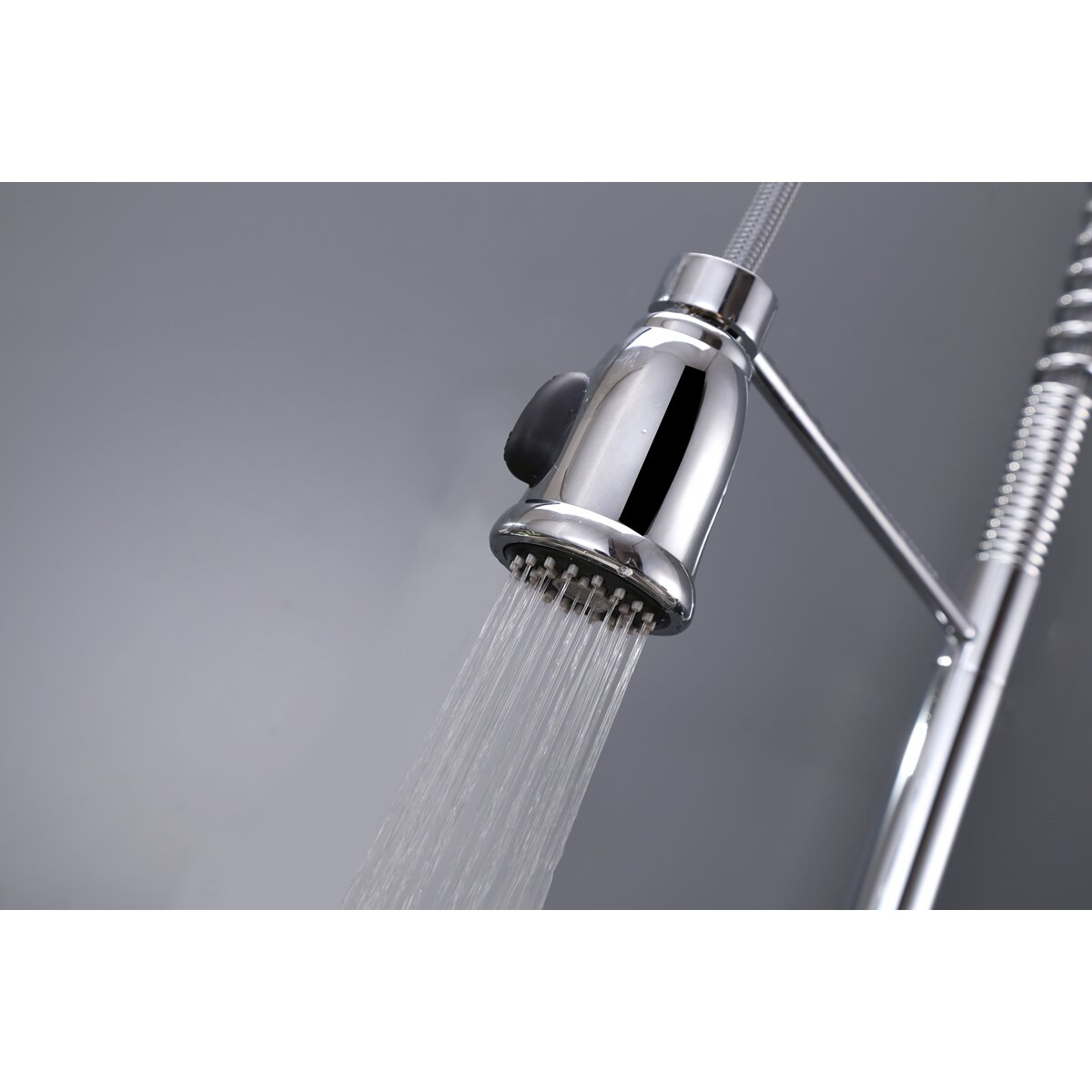 Ruvati Cascada Single Handle Pull-Down Kitchen Faucet With