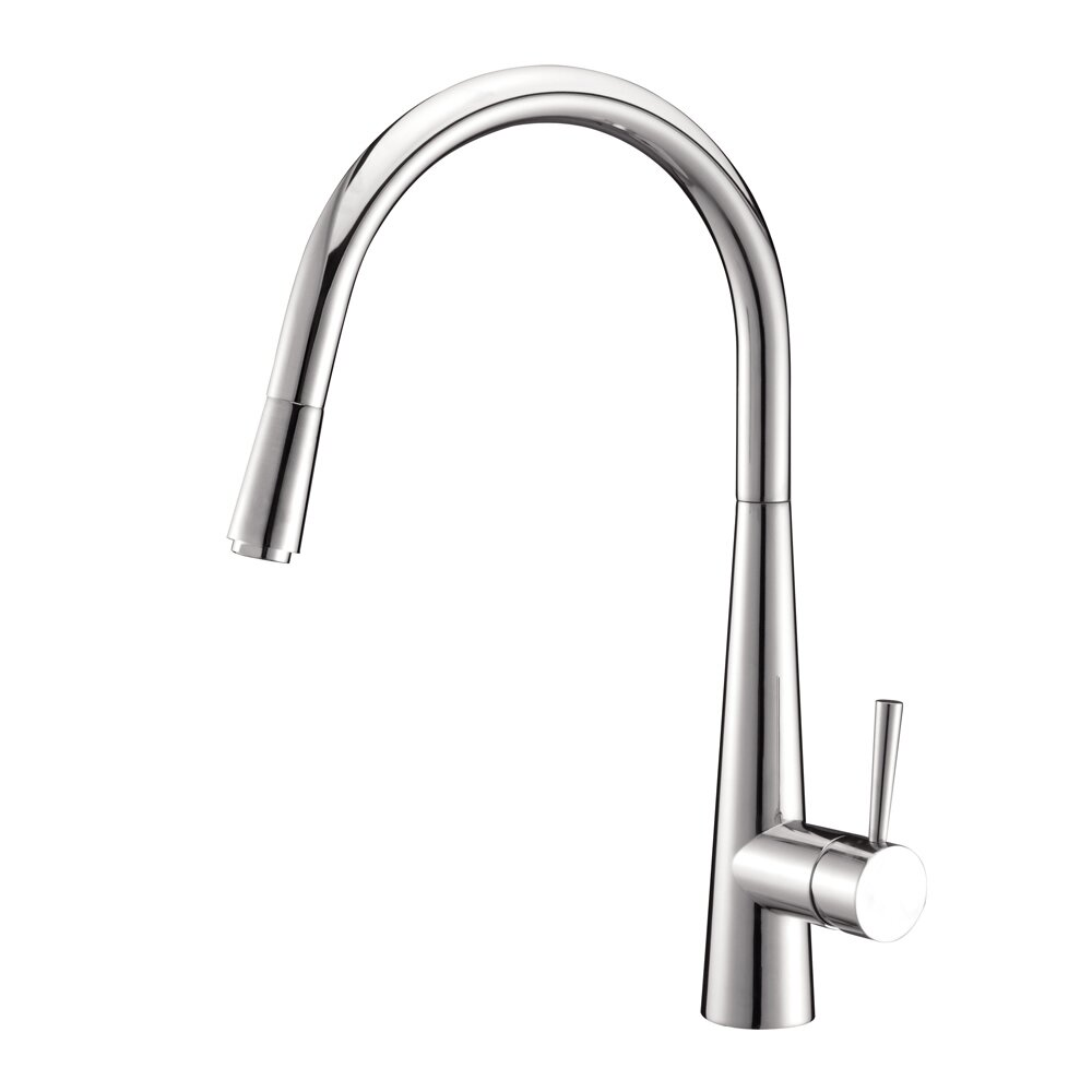 single handle pull down kitchen faucet ruvati cascada single handle pull kitchen faucet 27459