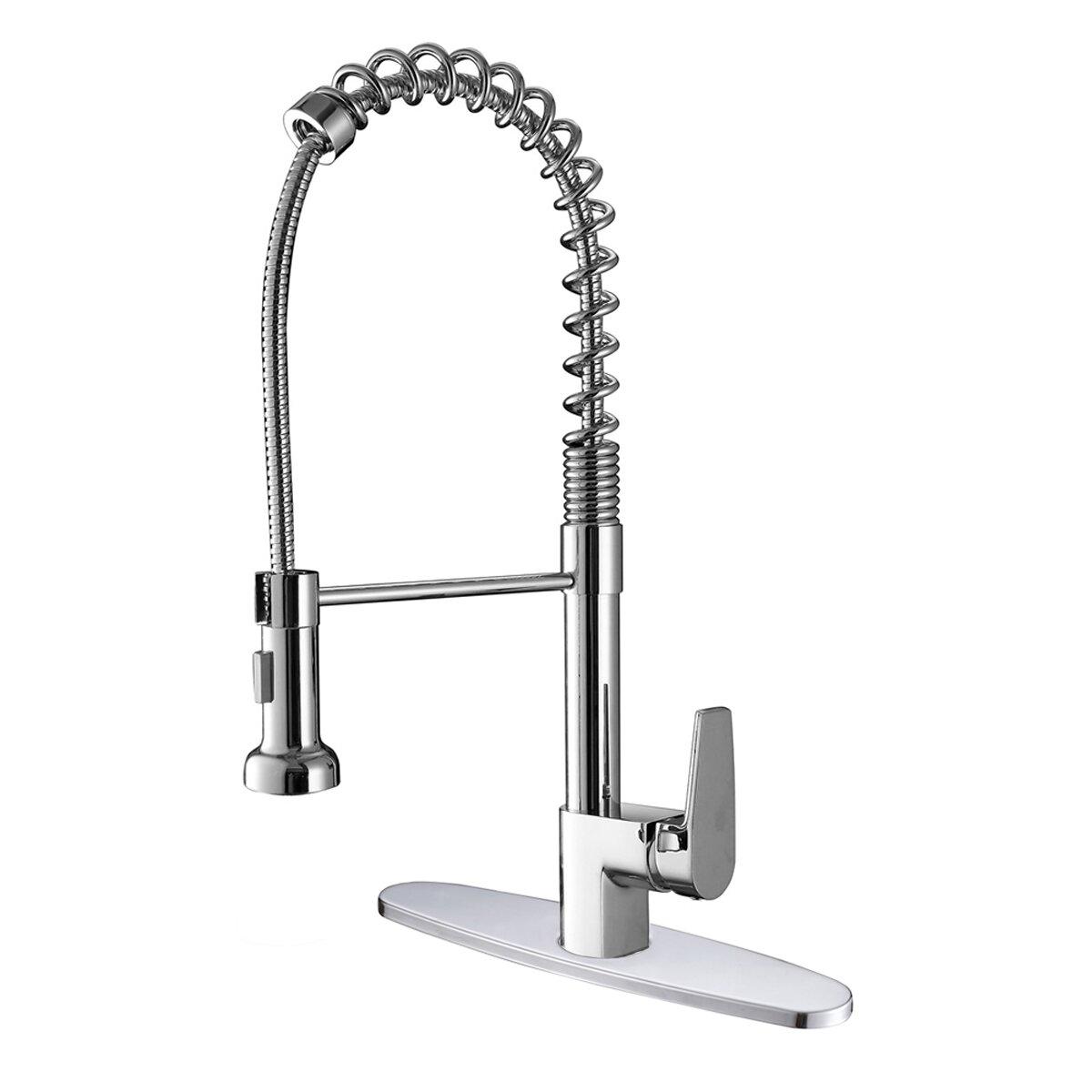 Ruvati Cascada Kitchen Faucet With Deck Plate