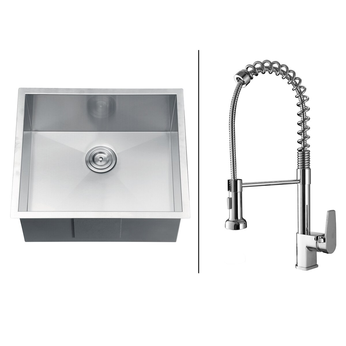 """Ruvati 23"""" x 20"""" Kitchen Sink with Faucet & Reviews"""