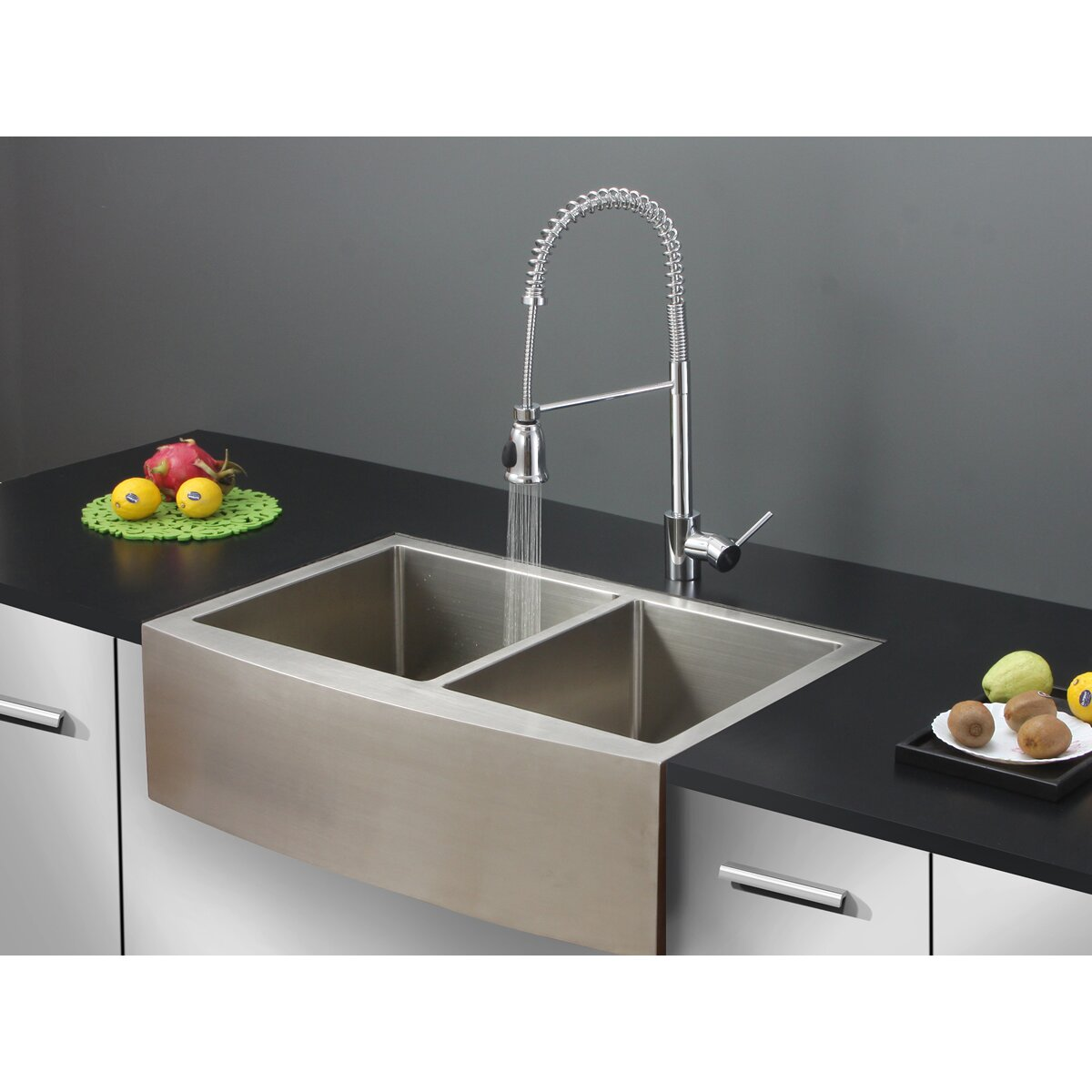 22 x 33 kitchen sink ruvati 33 quot x 22 quot kitchen sink with faucet amp reviews wayfair 7298