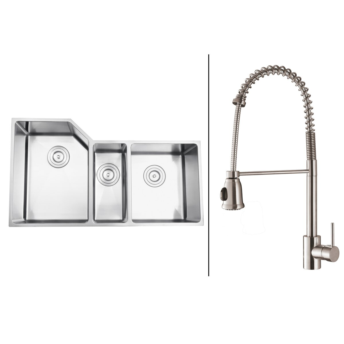 Ruvati X Kitchen Sink With Faucet Wayfair