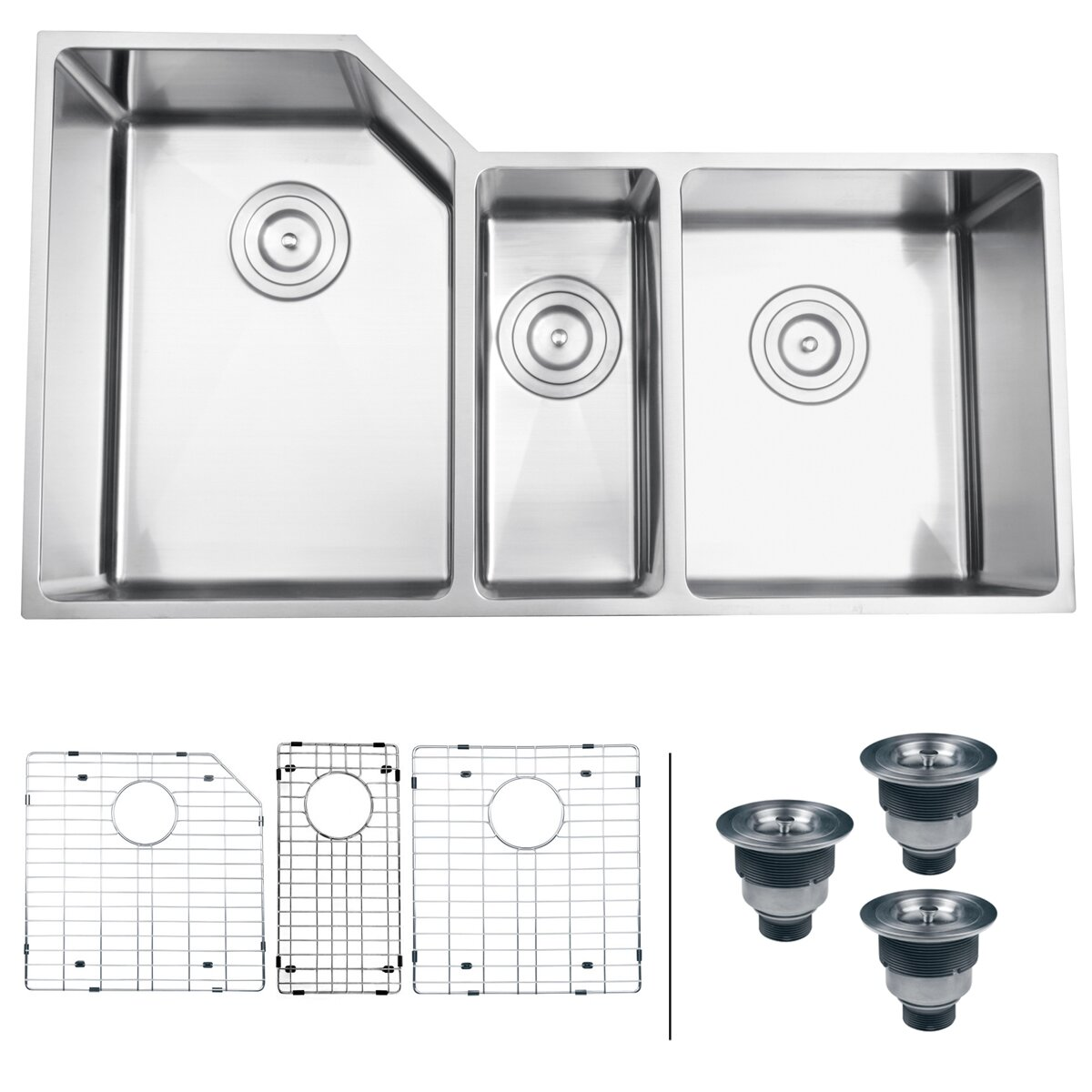 3 bowl kitchen sink ruvati gravena 33 75 quot x 19 13 quot undermount bowl 3852