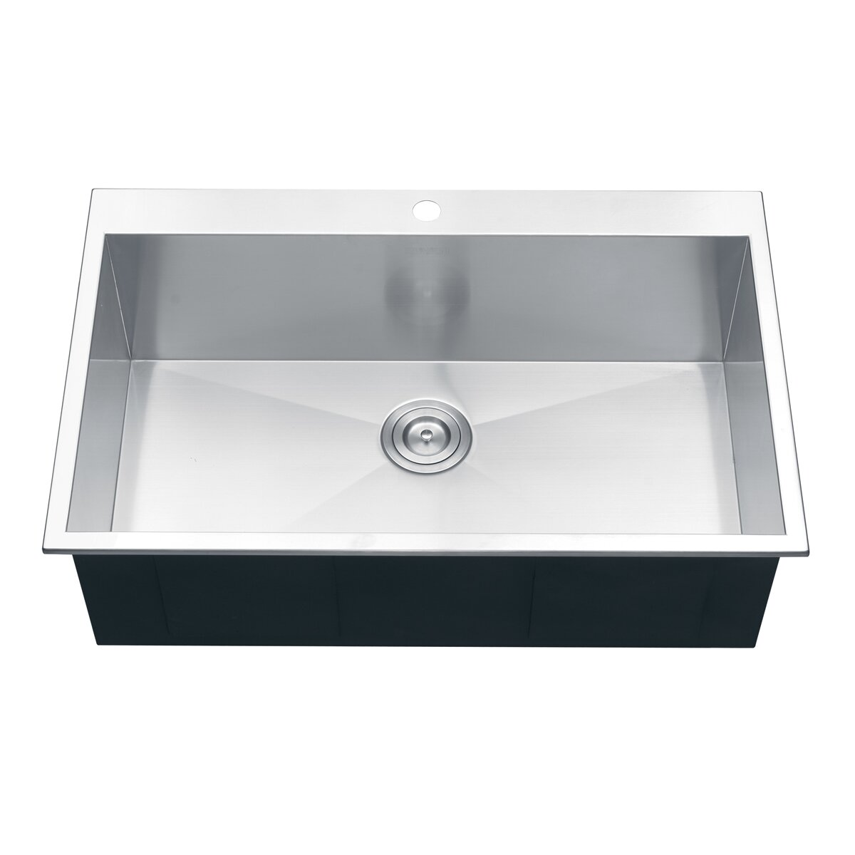 single bowl kitchen sink drop in ruvati tirana 33 quot x 21 quot drop in single bowl kitchen sink 9304