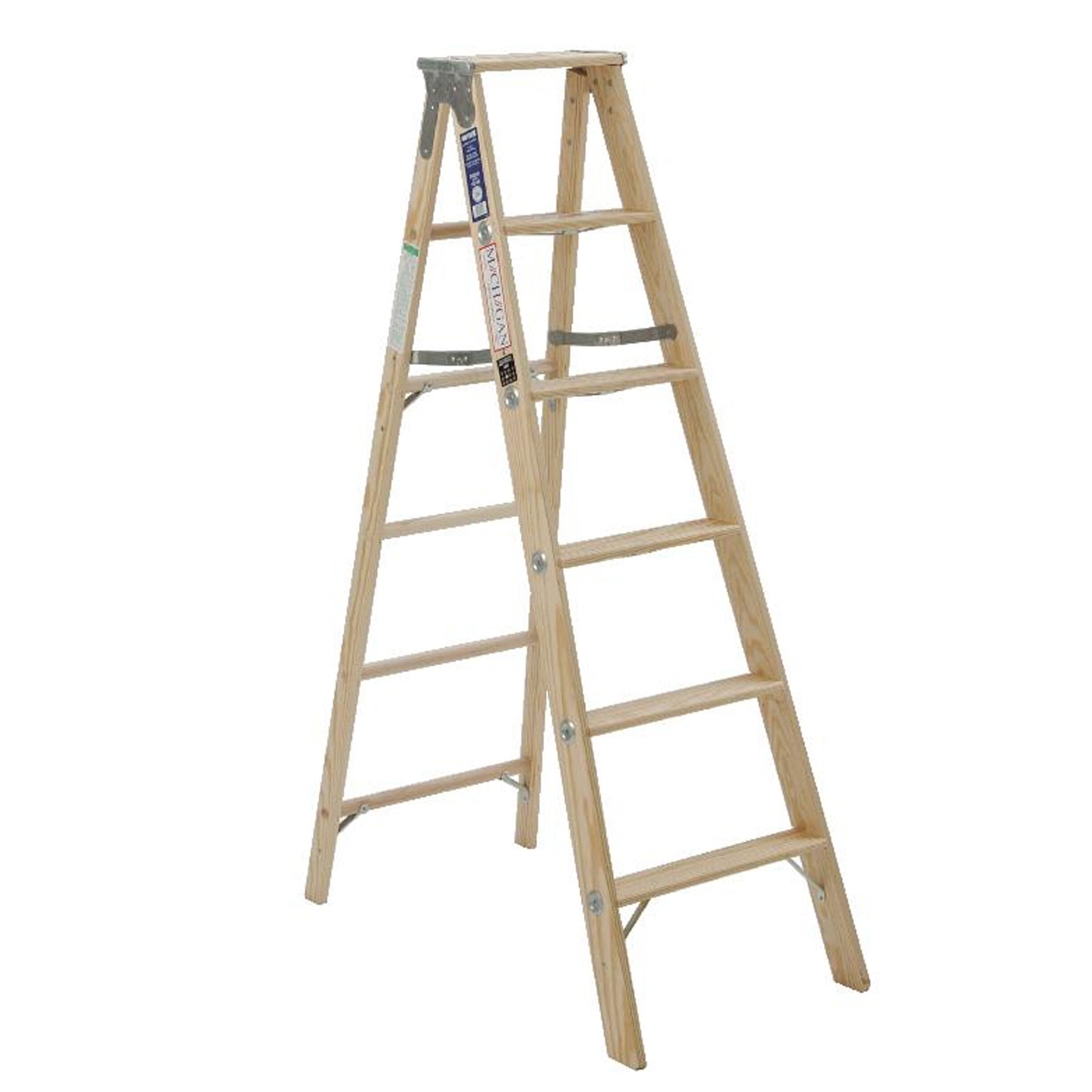 Michigan Ladder 5.08 Ft Wood Step Ladder With 250 Lb. Load