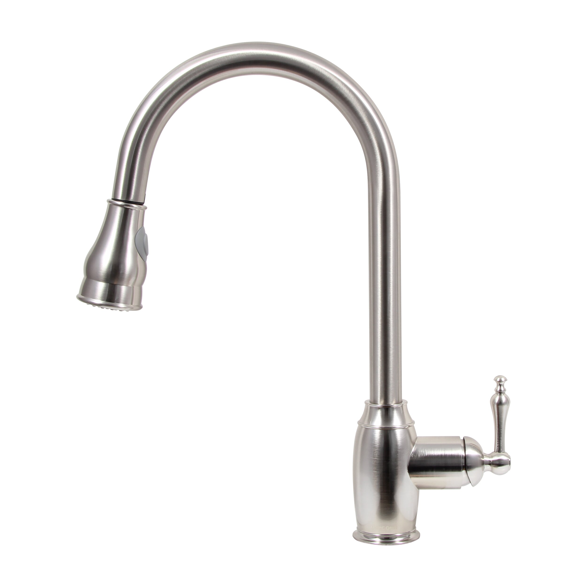 dyconn faucet pull down dual spray single handle kitchen