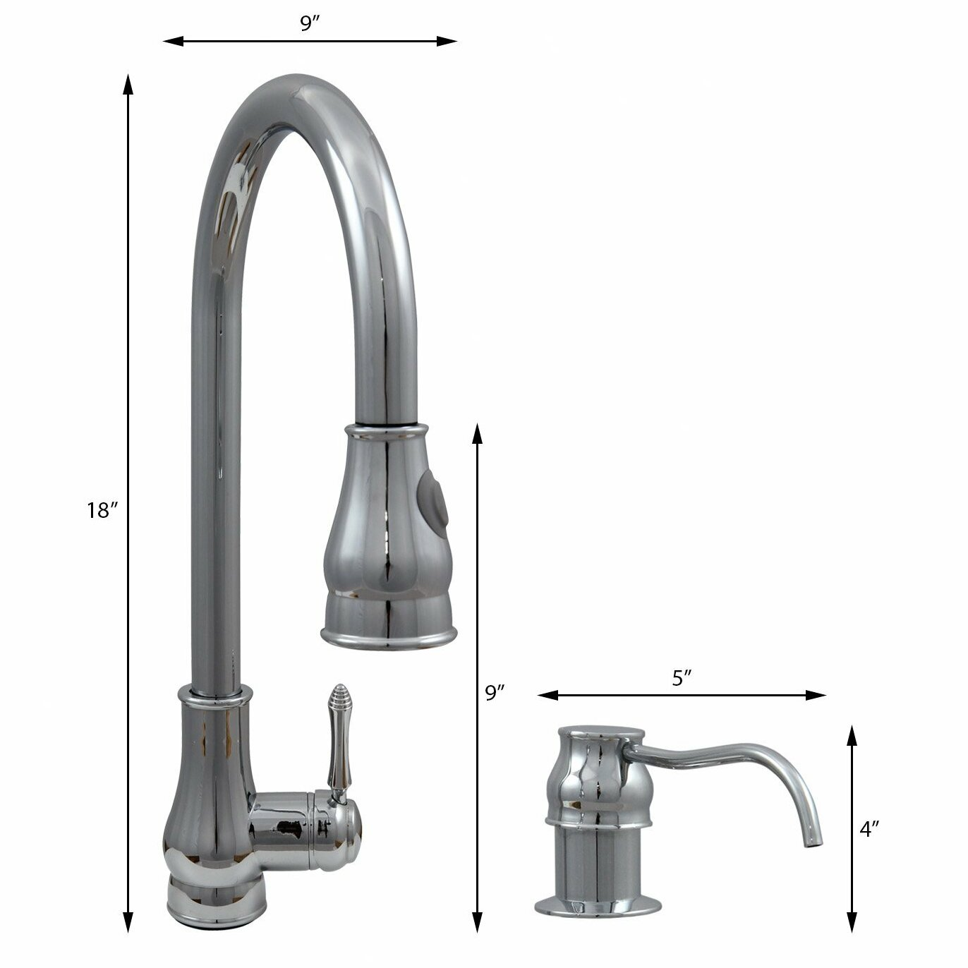 dyconn faucet single handle pull out kitchen faucet with