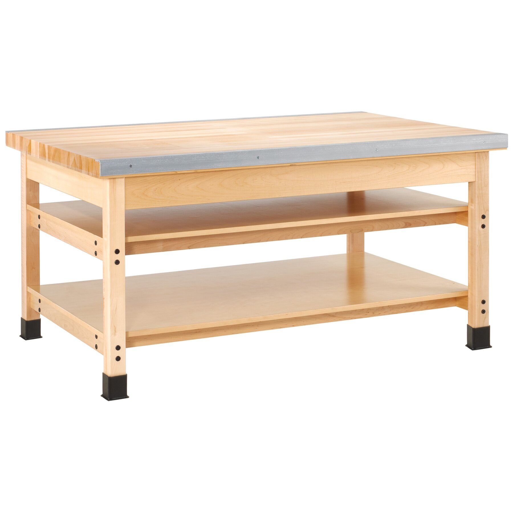 Shain Maple Top Workbench Wayfair Supply