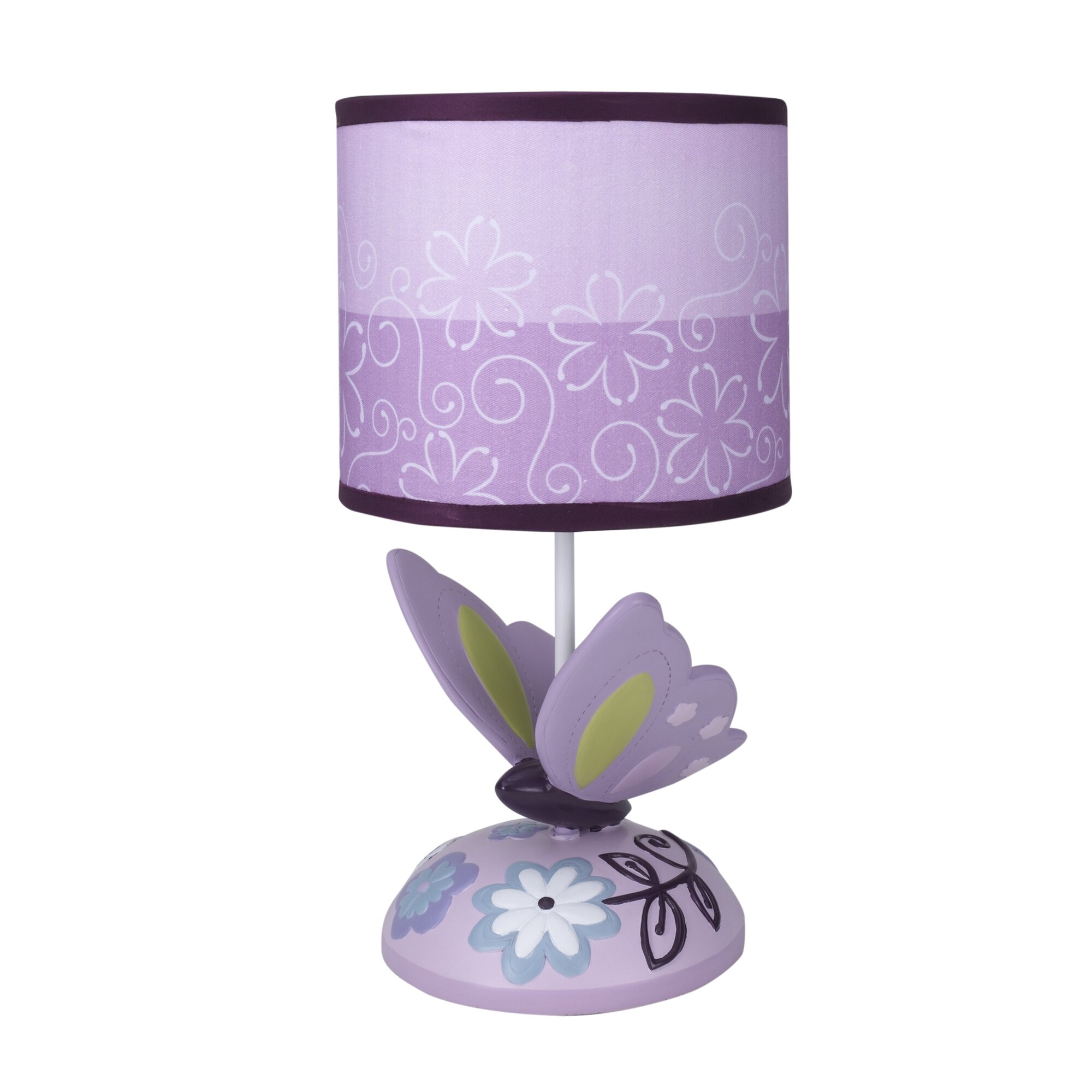 "Lambs & Ivy Butterfly Lane 11"" Table Lamp & Reviews"