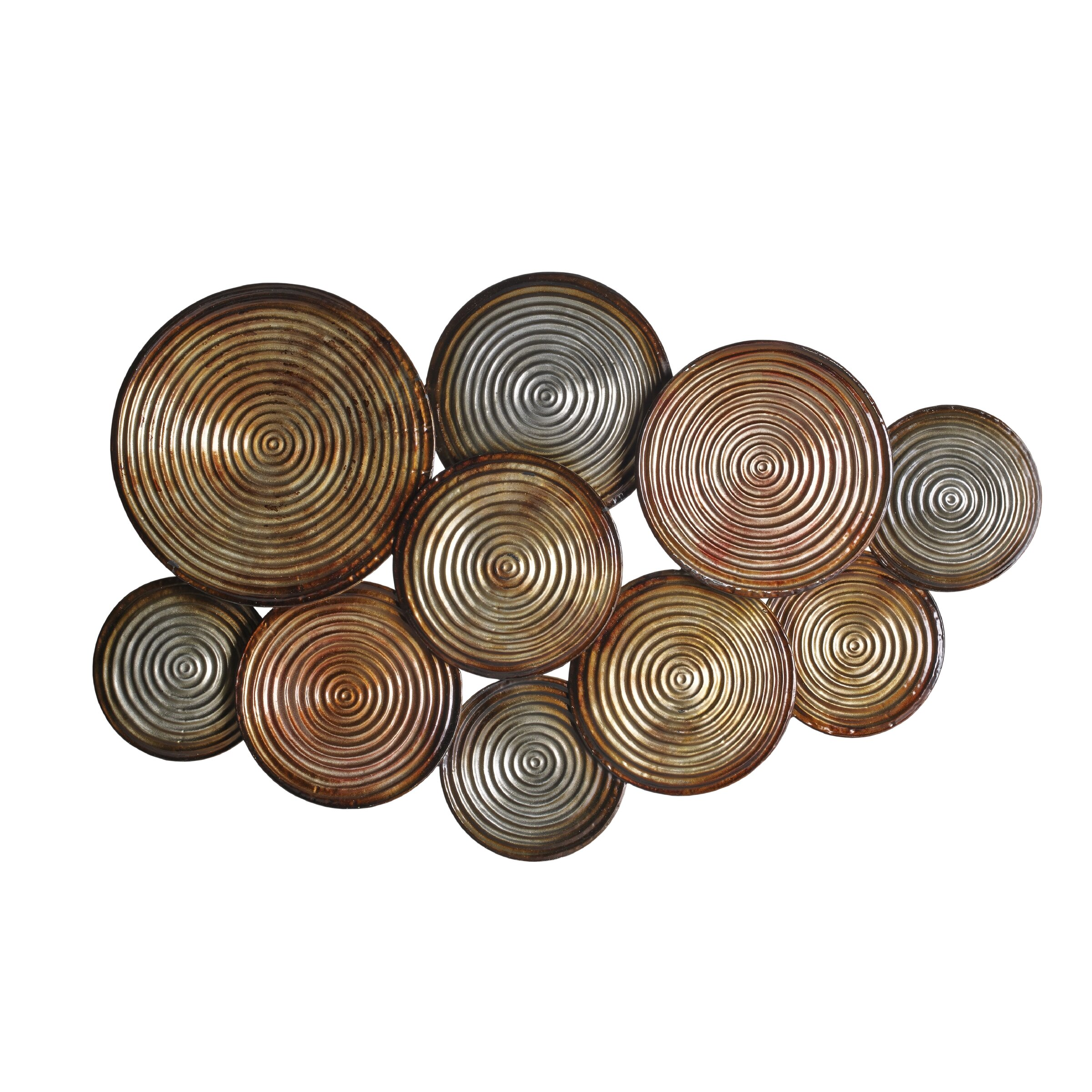 Elements embossed circles metal wall d cor reviews wayfair for Decorative accents