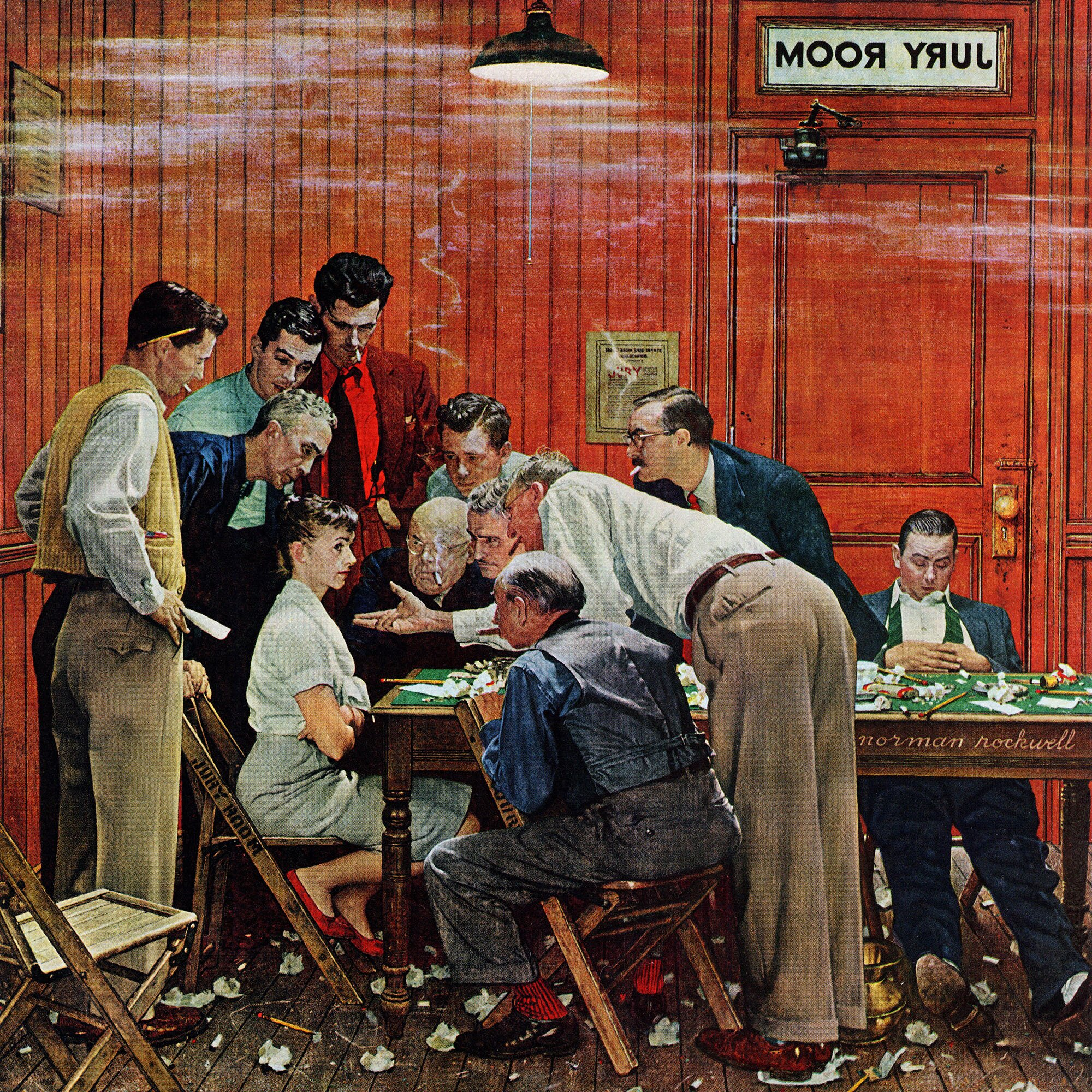 Marmont Hill Jury By Norman Rockwell Painting Print On