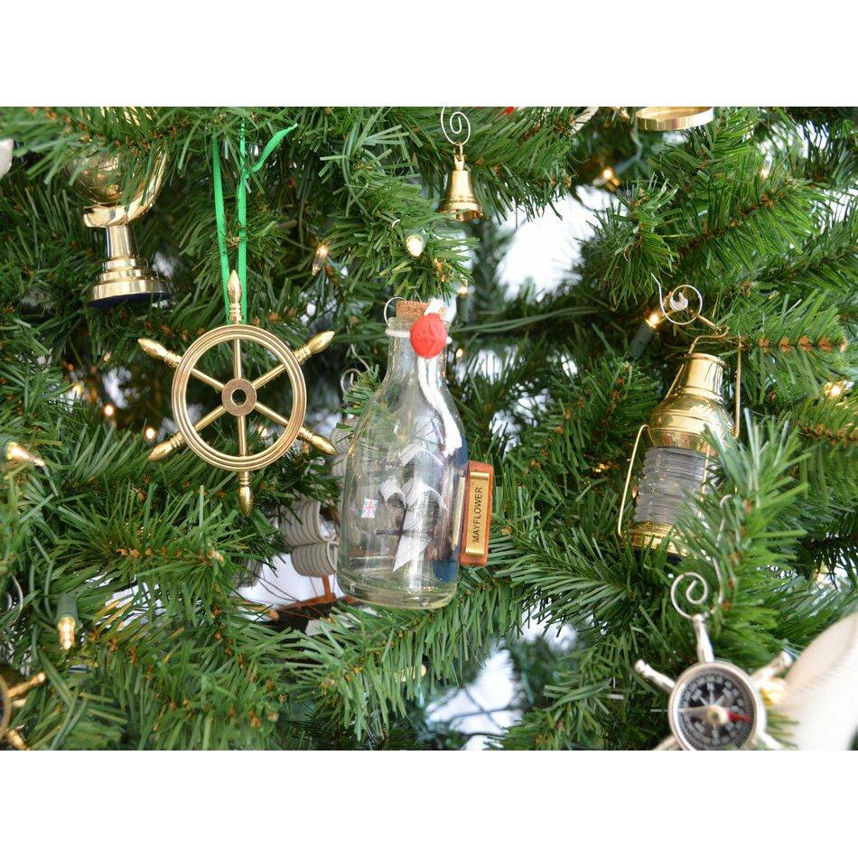 Mayflower Ship Glass Bottle Christmas