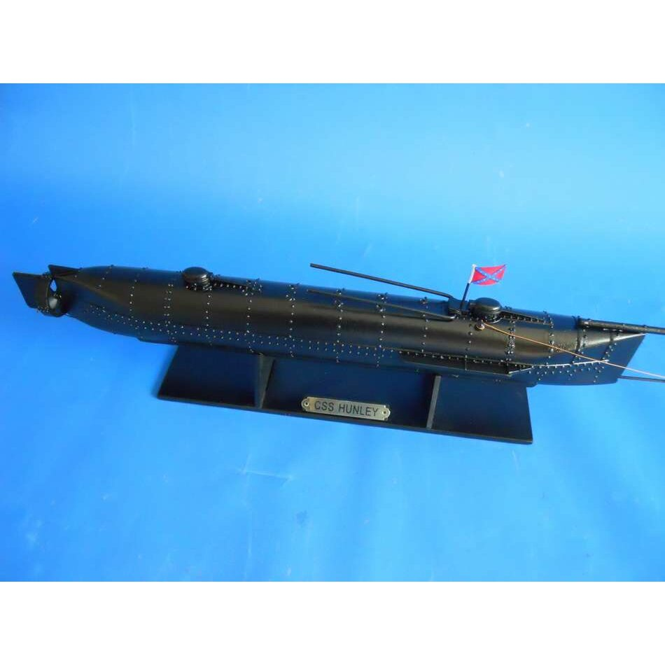 Handcrafted nautical decor h l hunley limited model ship