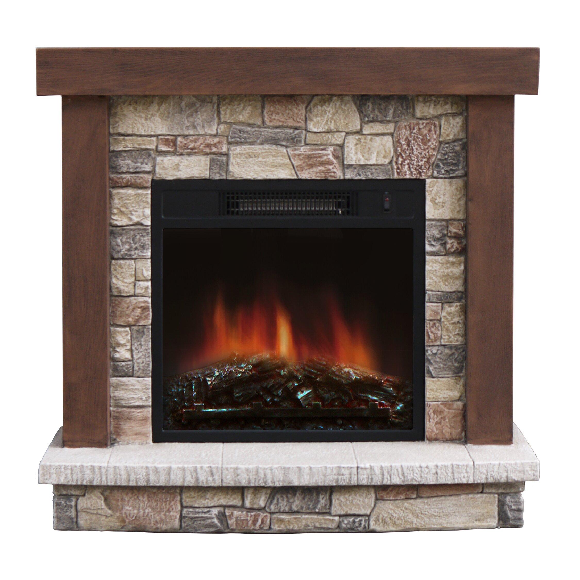 Stonegate Urban Mountain Lodge Electric Fireplace Reviews Wayfair