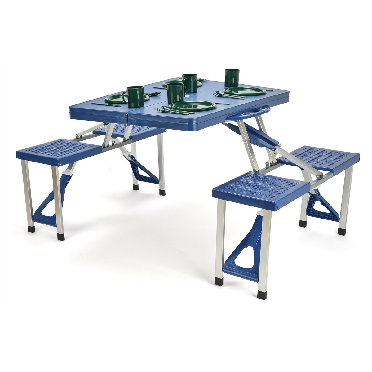 Trademark innovations picnic table for 10 person picnic table