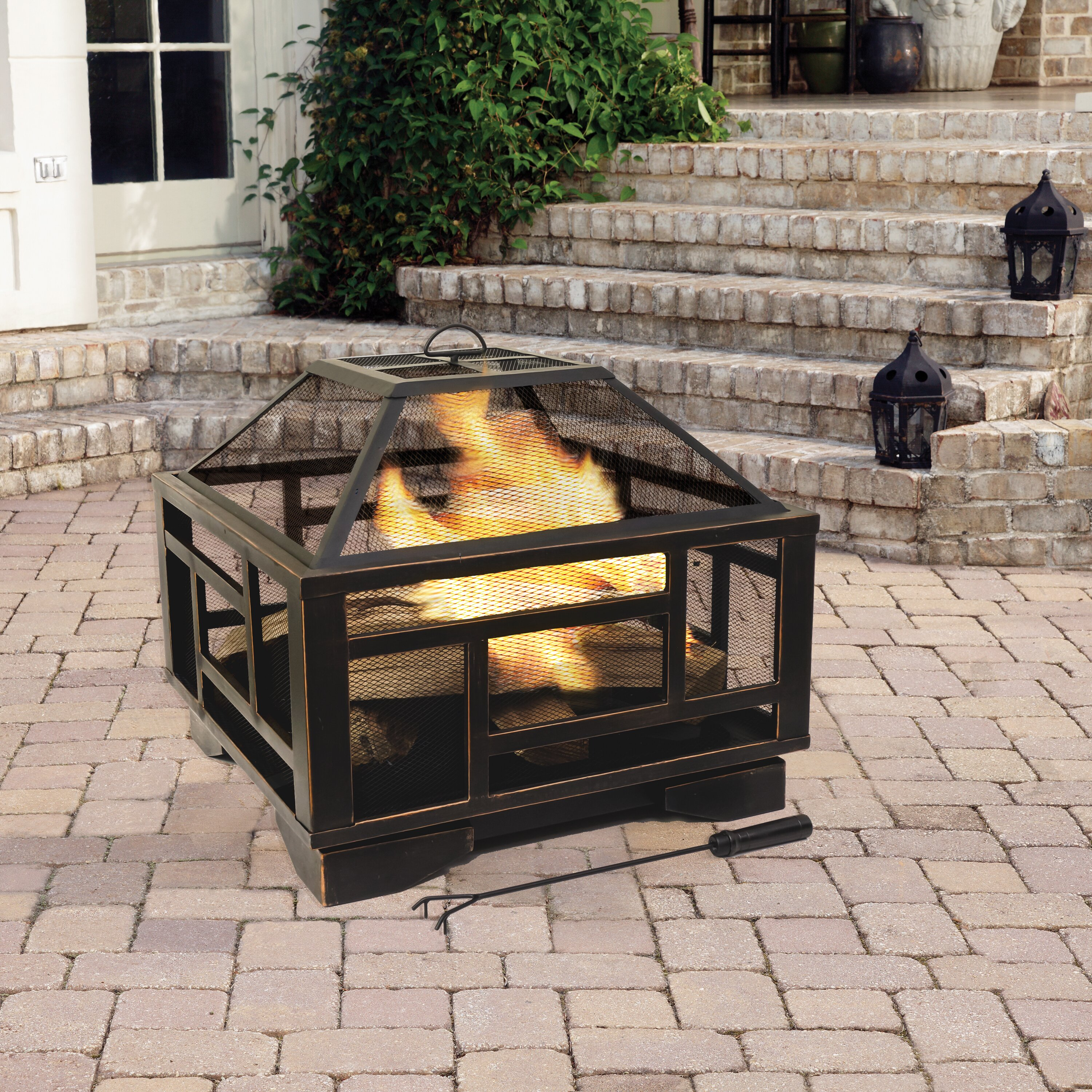 Pleasant Hearth Solus Deep Wood Burning Fire Pit Amp Reviews