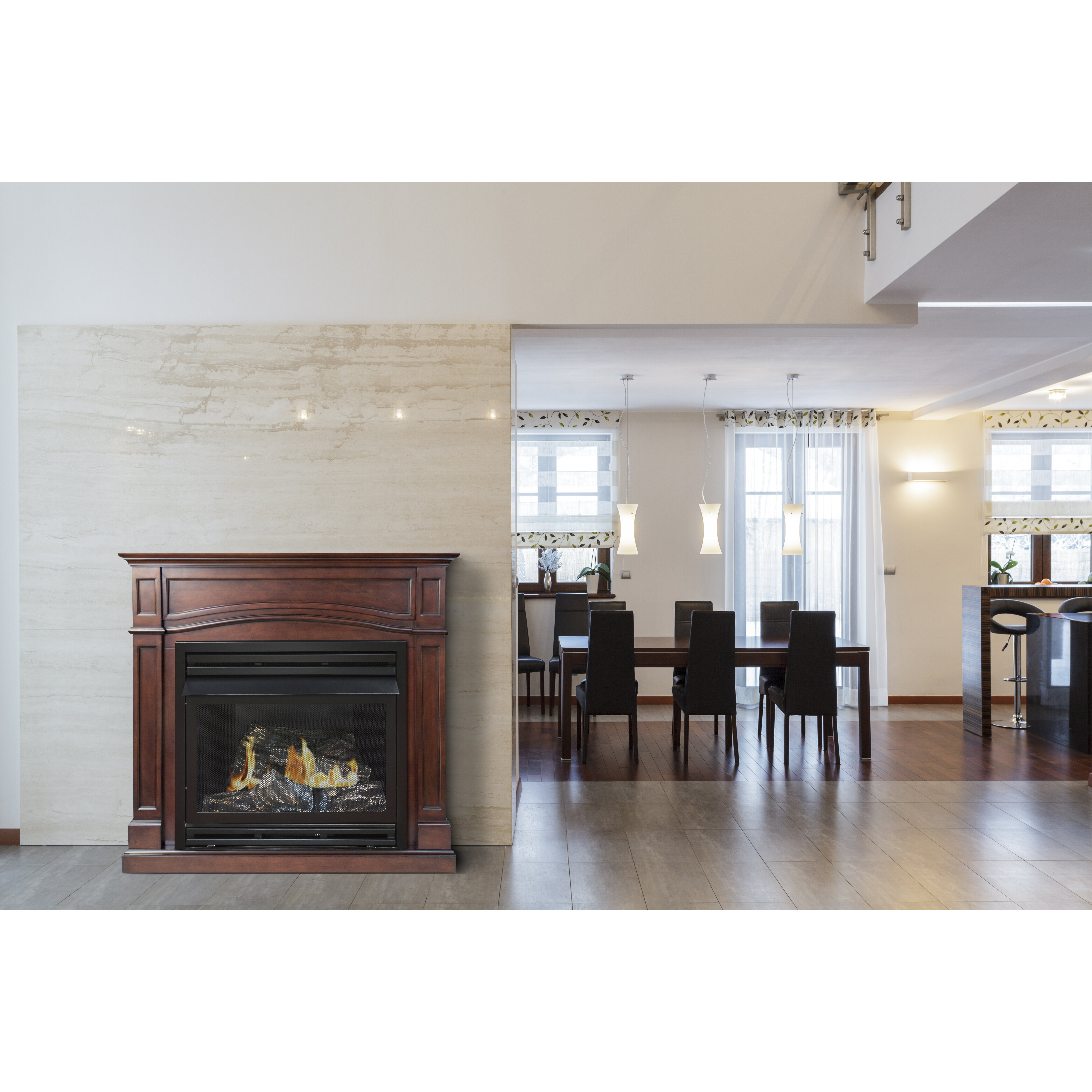 Gas fireplace insert reviews - Pleasant Hearth Dual Fuel Vent Free Gas Fireplace Amp Reviews Wayfair