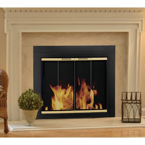 pleasant hearth arrington fireplace screen and bi fold