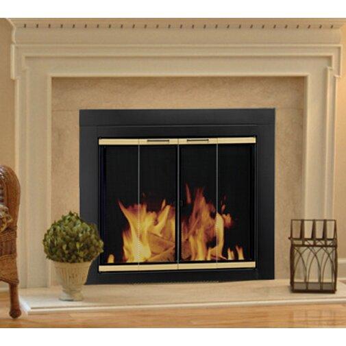 fireplace screen and bi fold track free glass door reviews wayfair