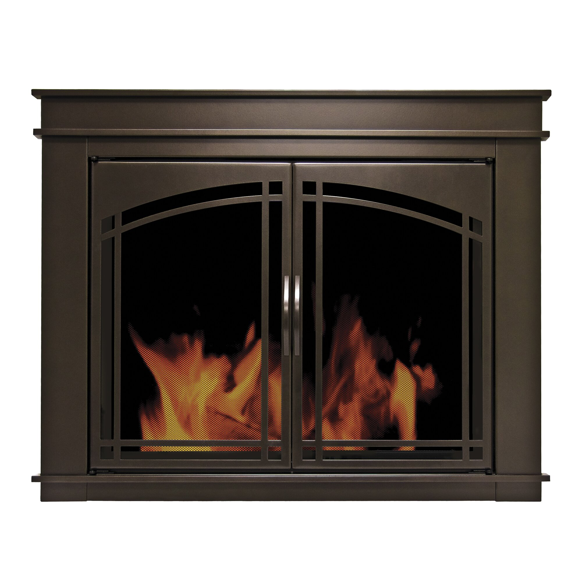 Pleasant Hearth Fenwick Cabinet Style Fireplace Screen