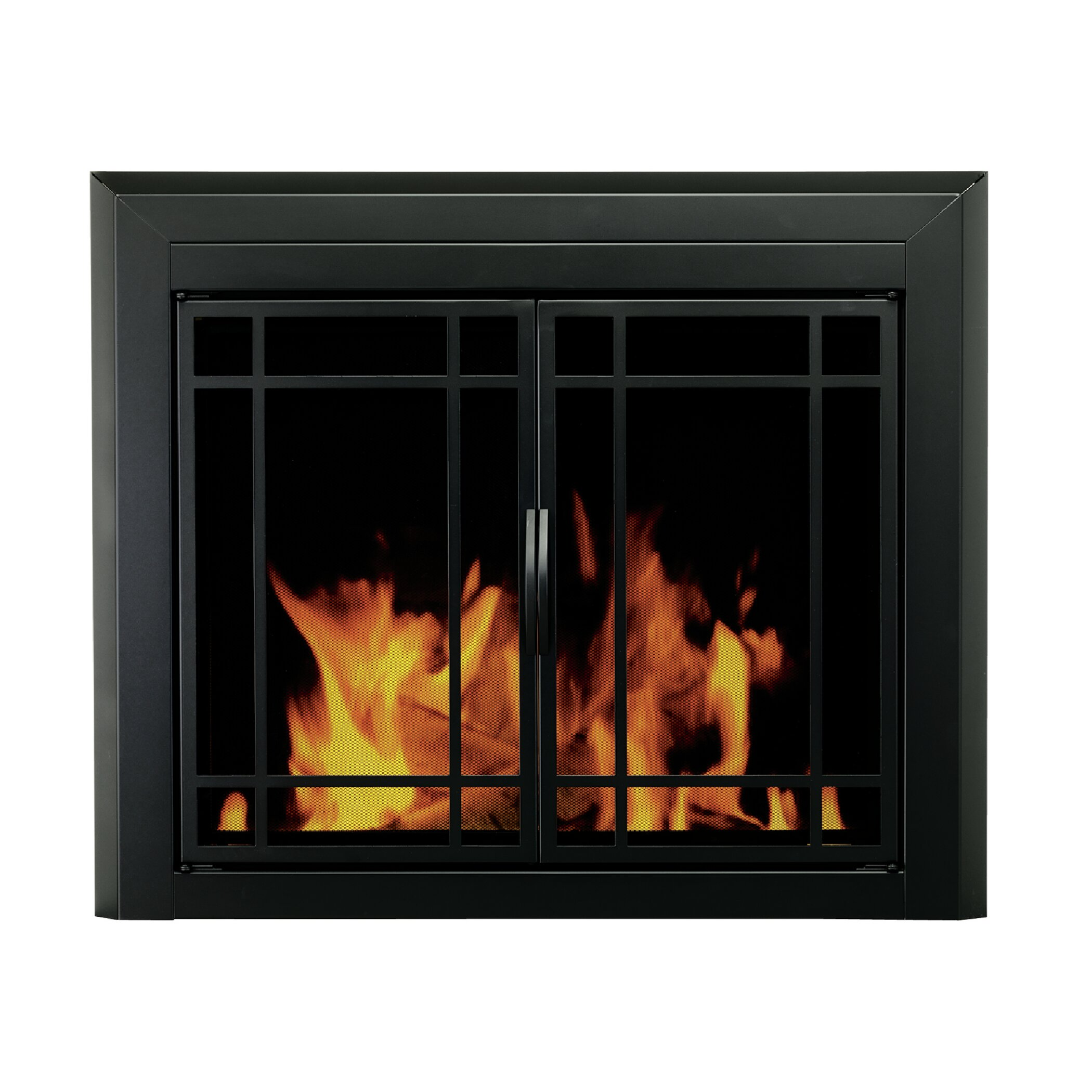 Pleasant Hearth Easton Prairie Cabinet Style Fireplace