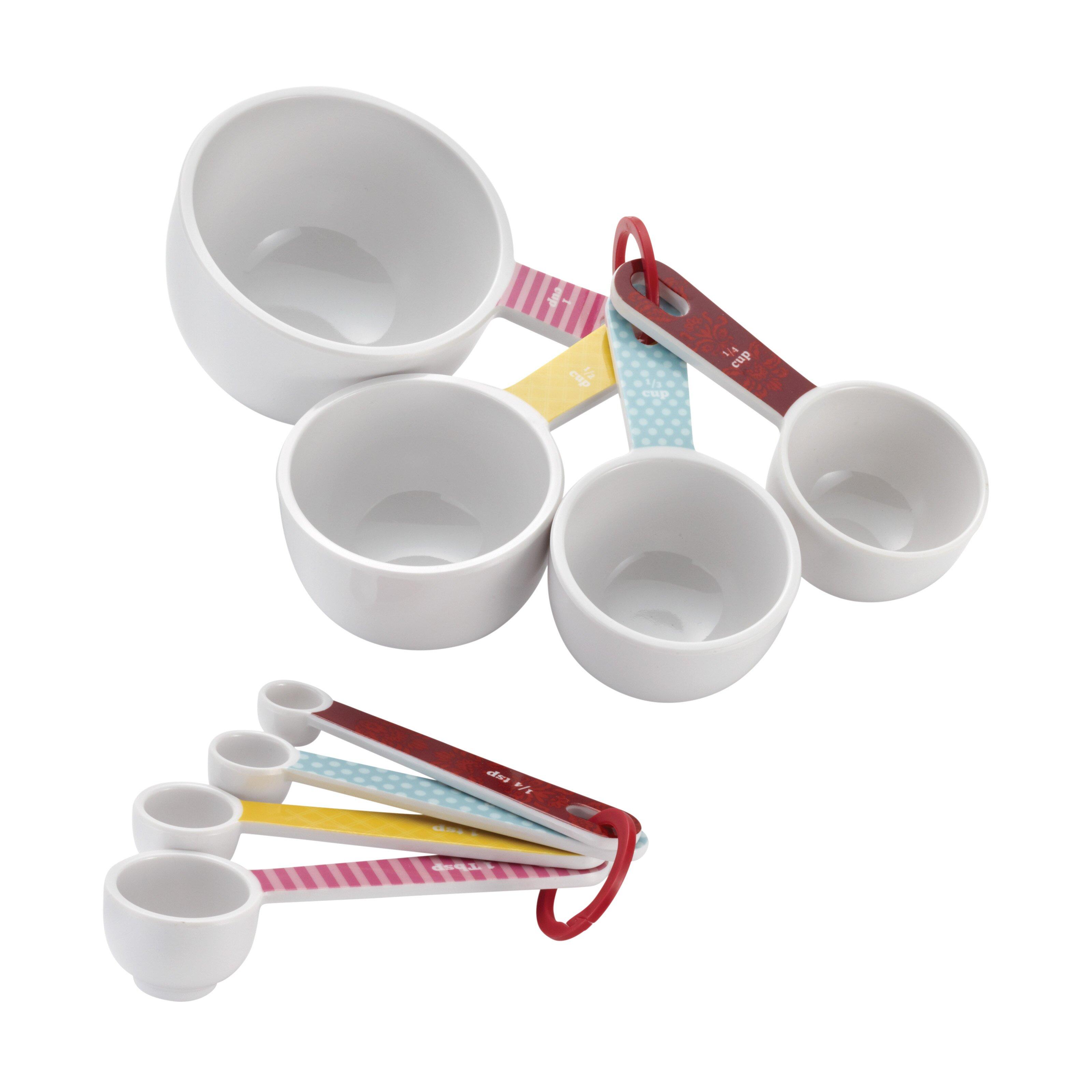 cake boss 8 piece measuring cup spoon set reviews wayfair. Black Bedroom Furniture Sets. Home Design Ideas