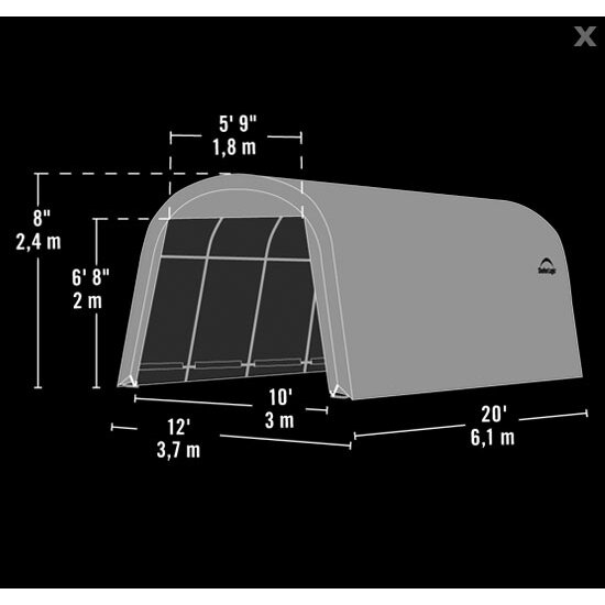 ShelterLogic 12 Ft. W X 20 Ft. D Garage & Reviews