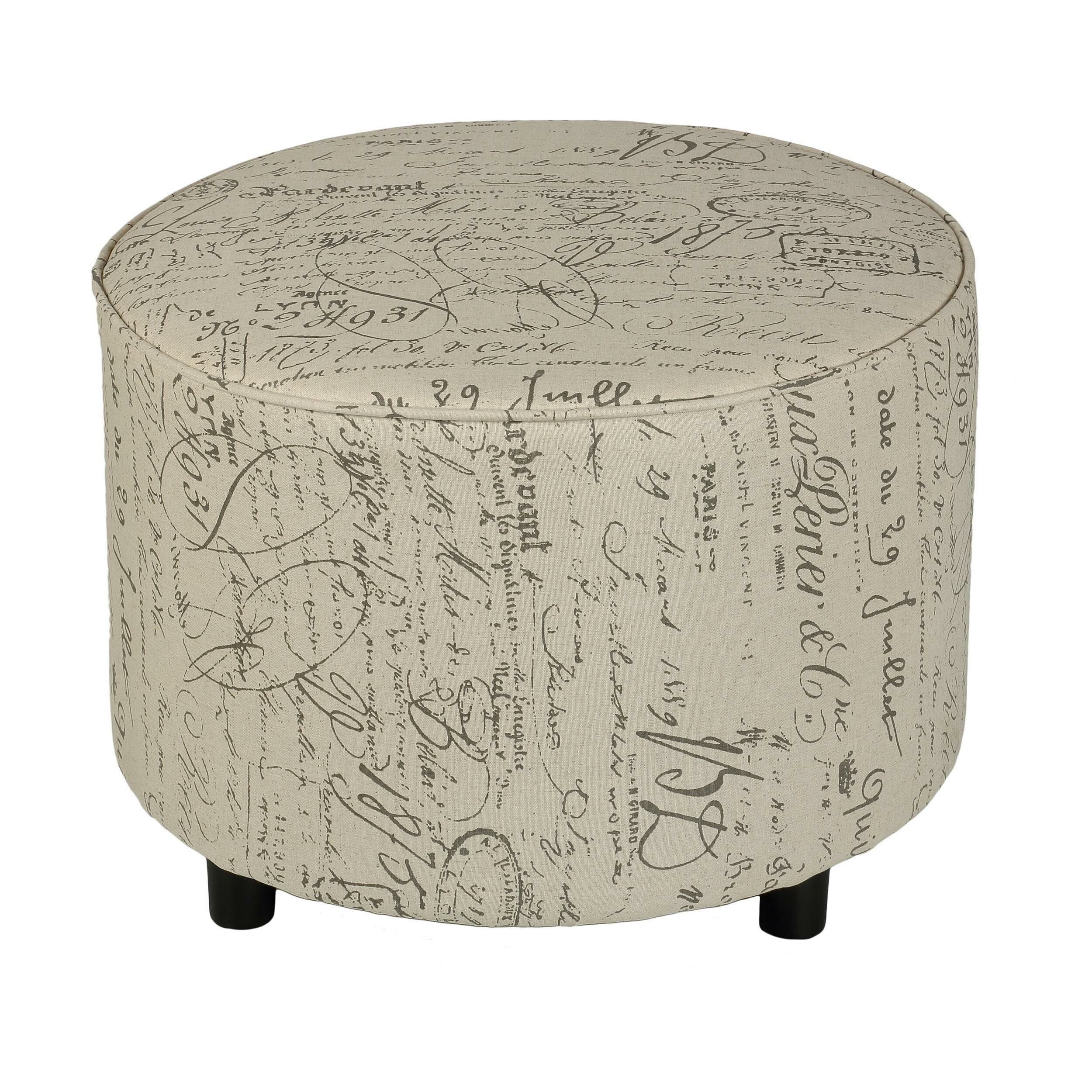 Cortesi Home Shakespeare Script Ottoman Amp Reviews Wayfair