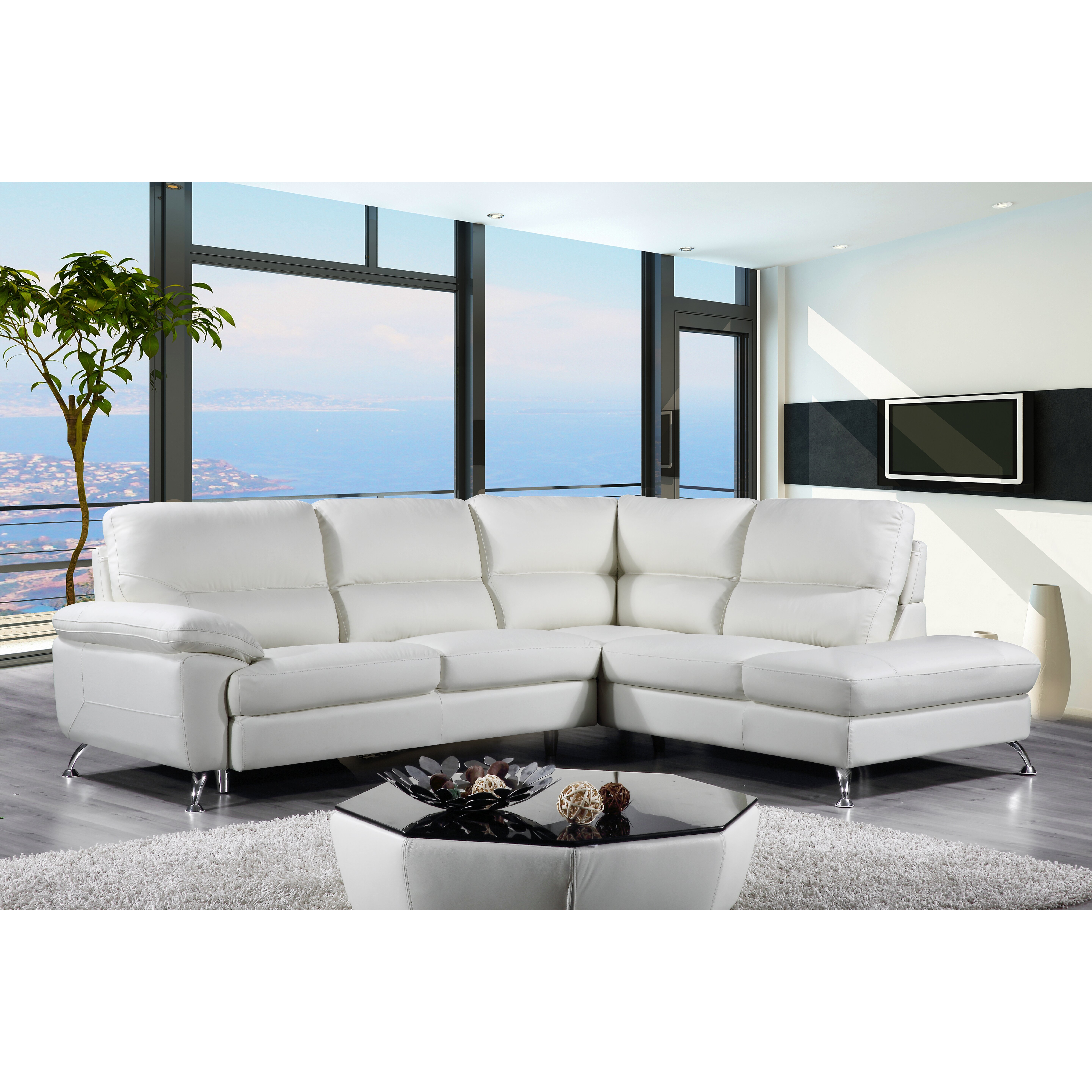 Cortesi home miami sectional wayfair for Sectional couches in miami