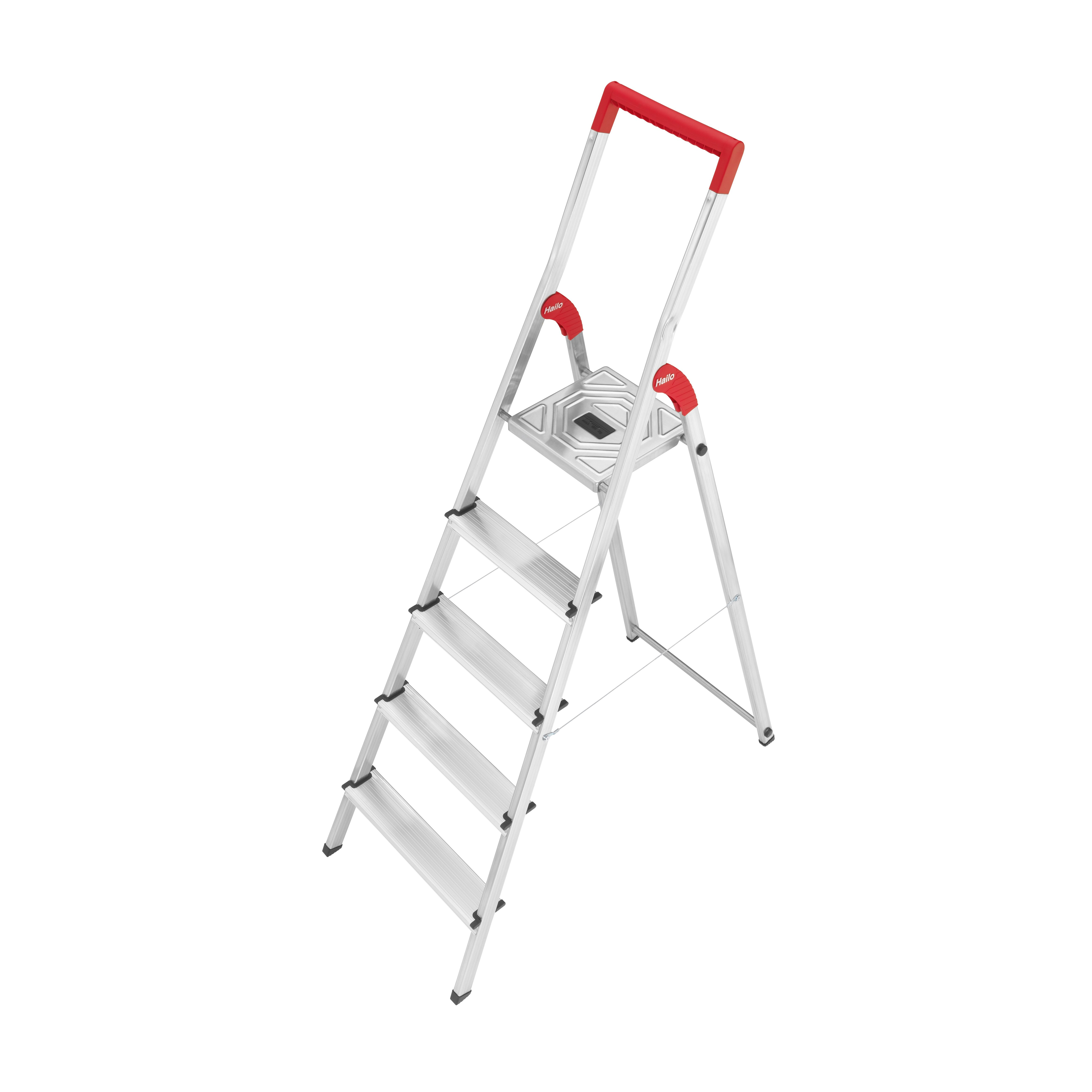 Hailo Usa Inc 5 51 Ft Aluminum Step Ladder With 330 Lb
