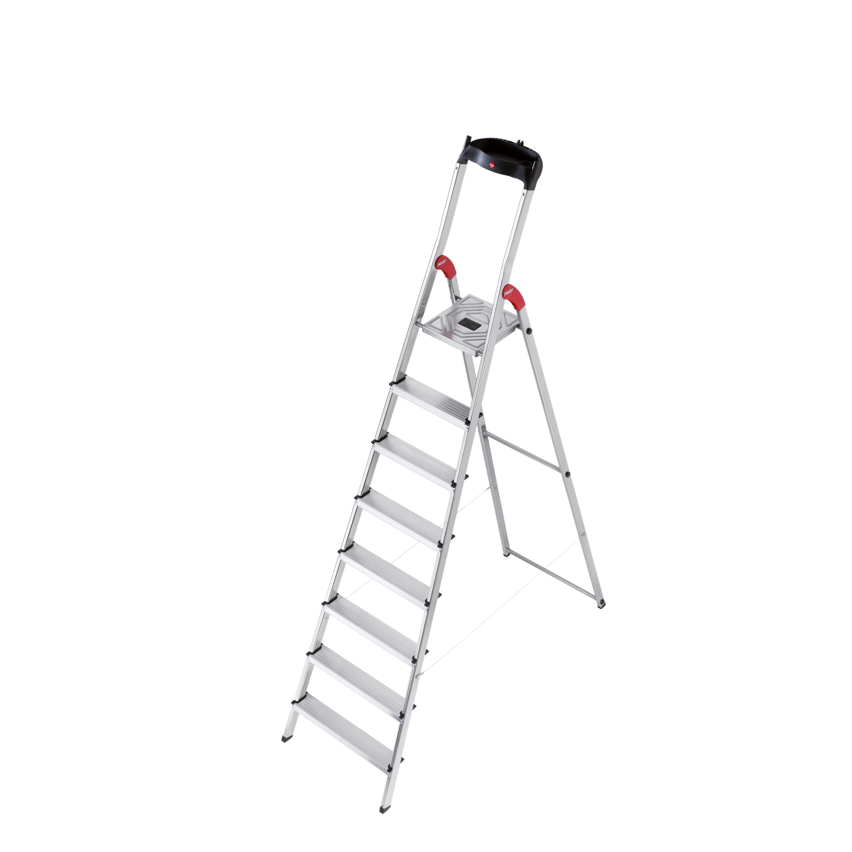 Hailo USA Inc. 7.64 Ft Aluminum Step Ladder With 330 Lb
