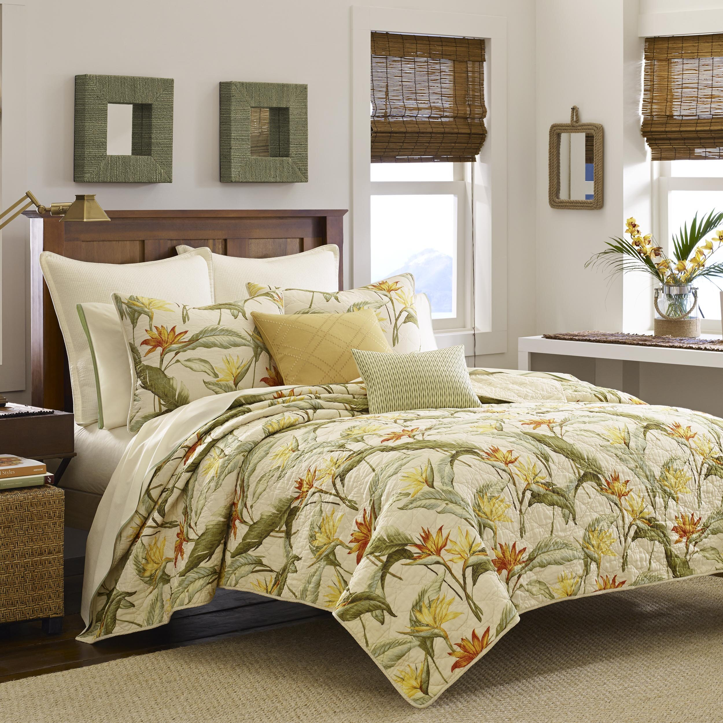 Tommy bahama bedding birds of paradise quilt collection Tommy bahama bedding